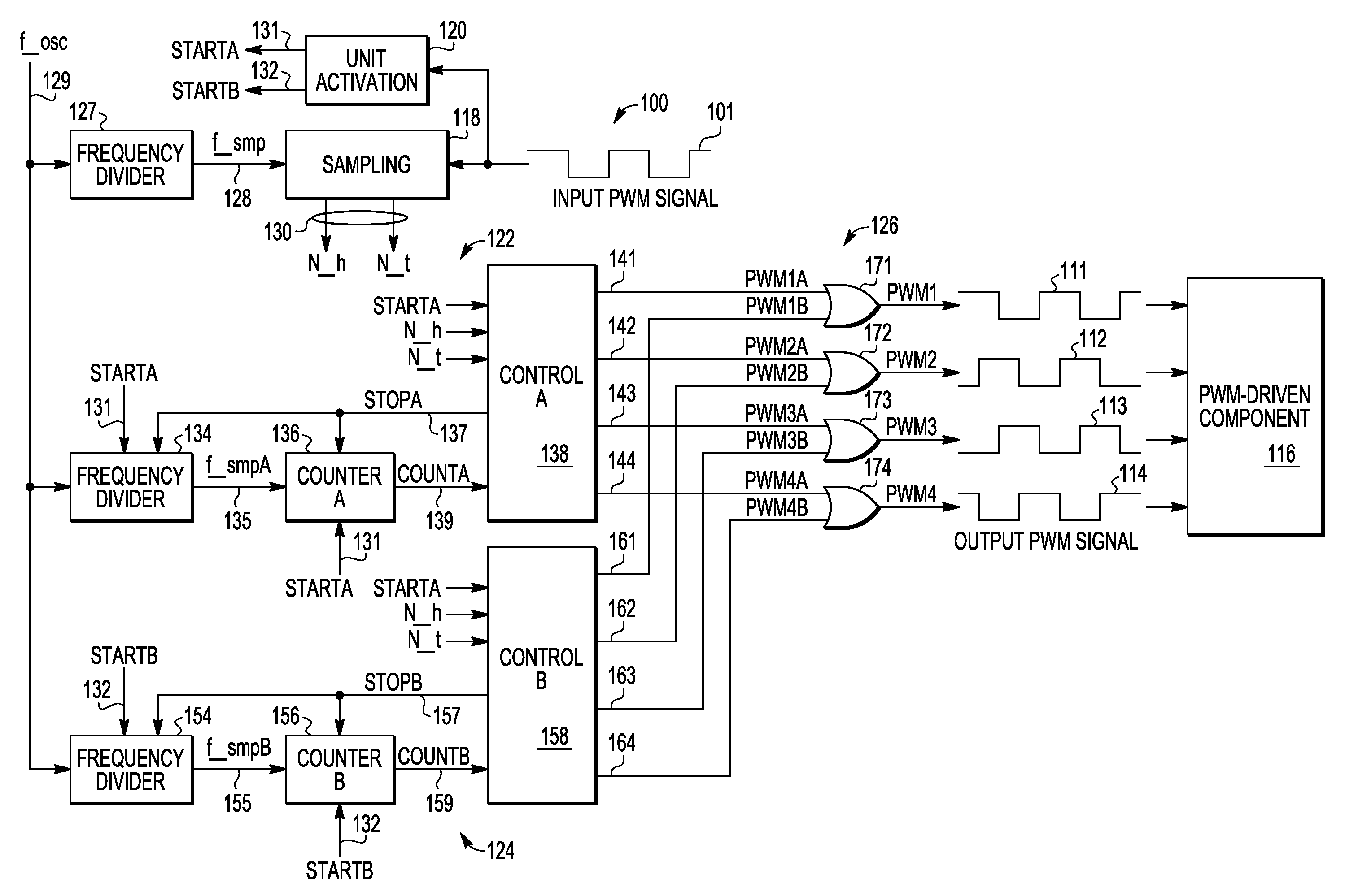 patent us7843242 - phase-shifted pulse width modulation signal generation