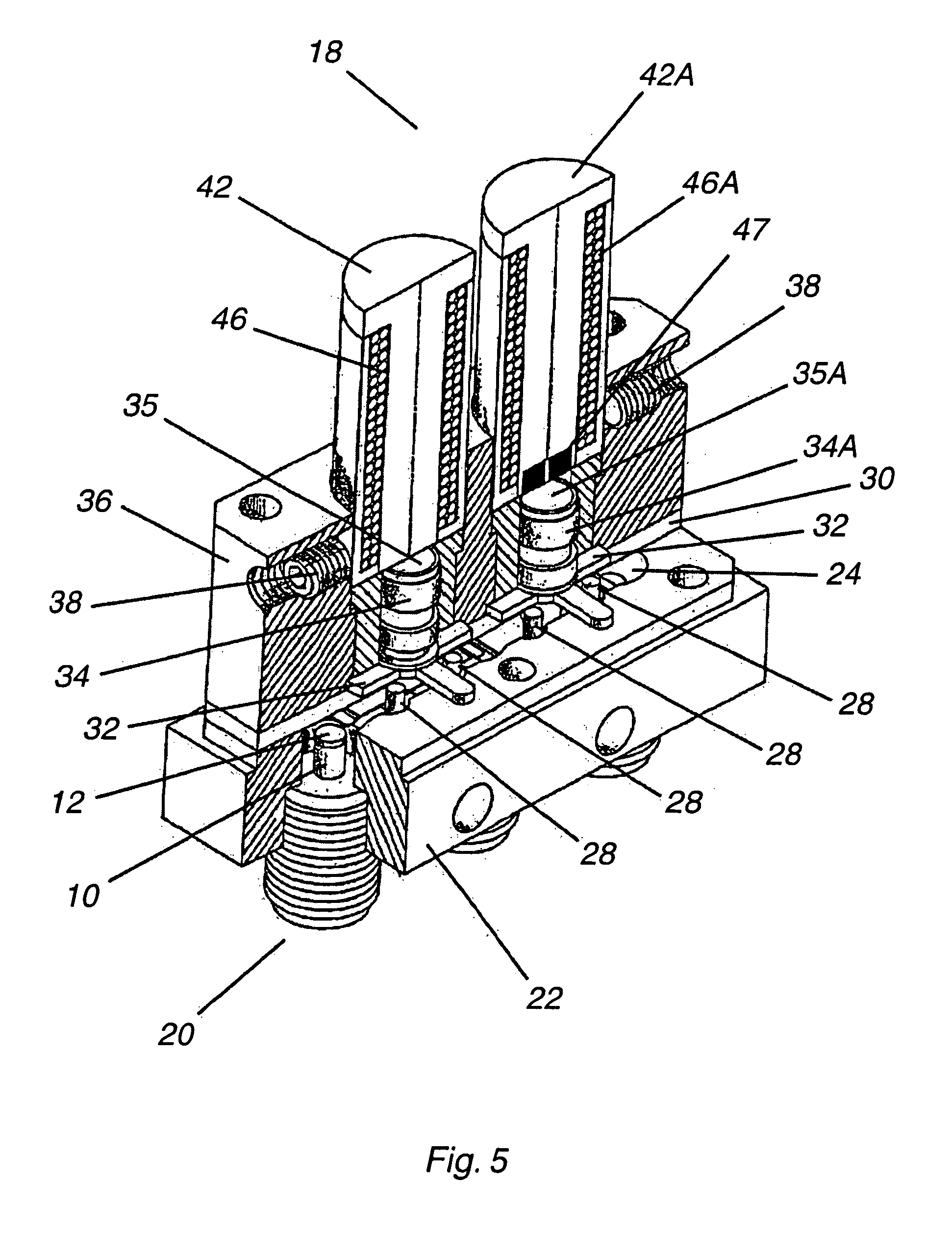 Patent Us7843289 High Reliability Microwave Mechanical Switch Relay Lifespan Drawing