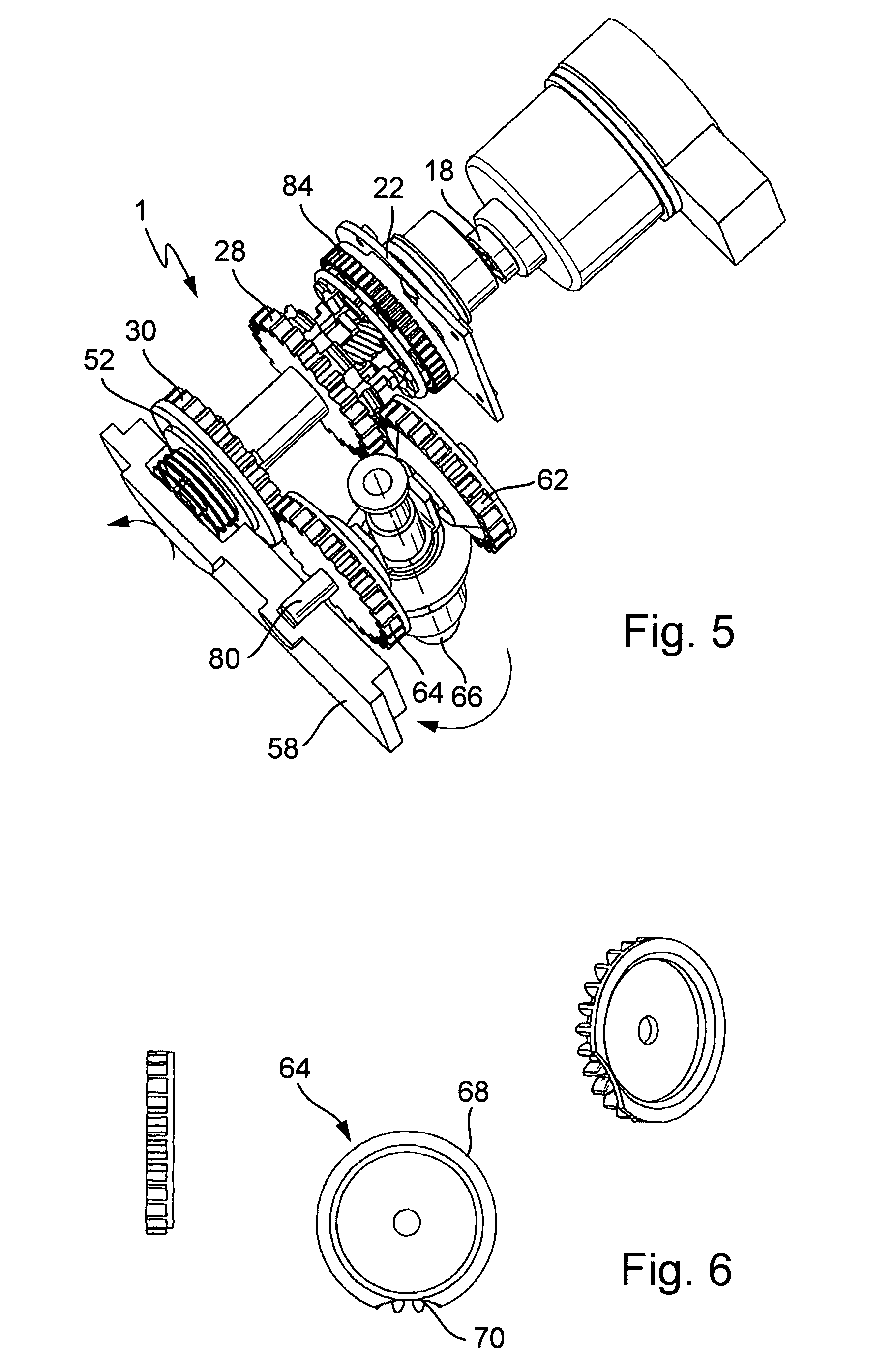 Patent Us7845249 Single Motor Transmission Shifting