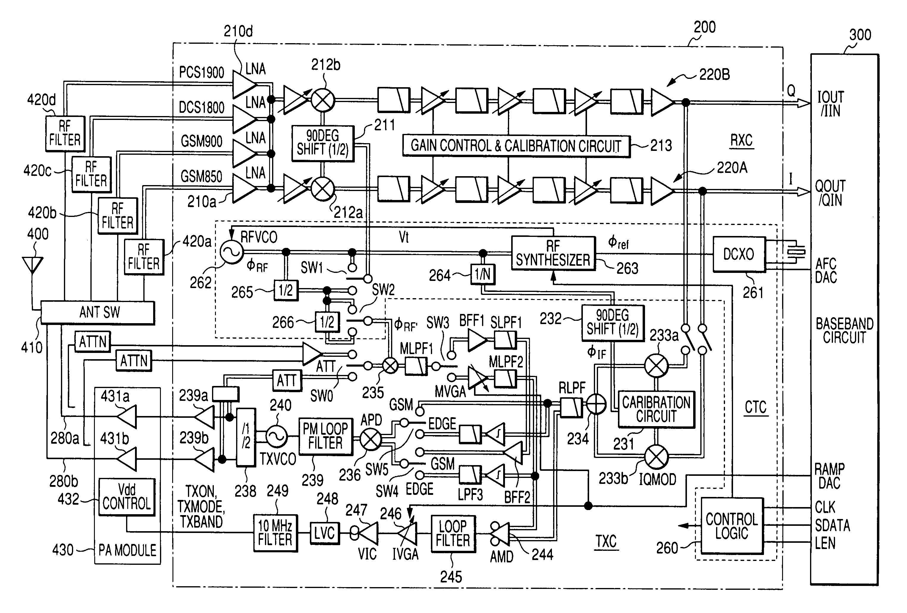 Patent Us7848716 Semiconductor Integrated Circuit For The Mixer Of Radio Frequency Dual Npn Rf Drawing