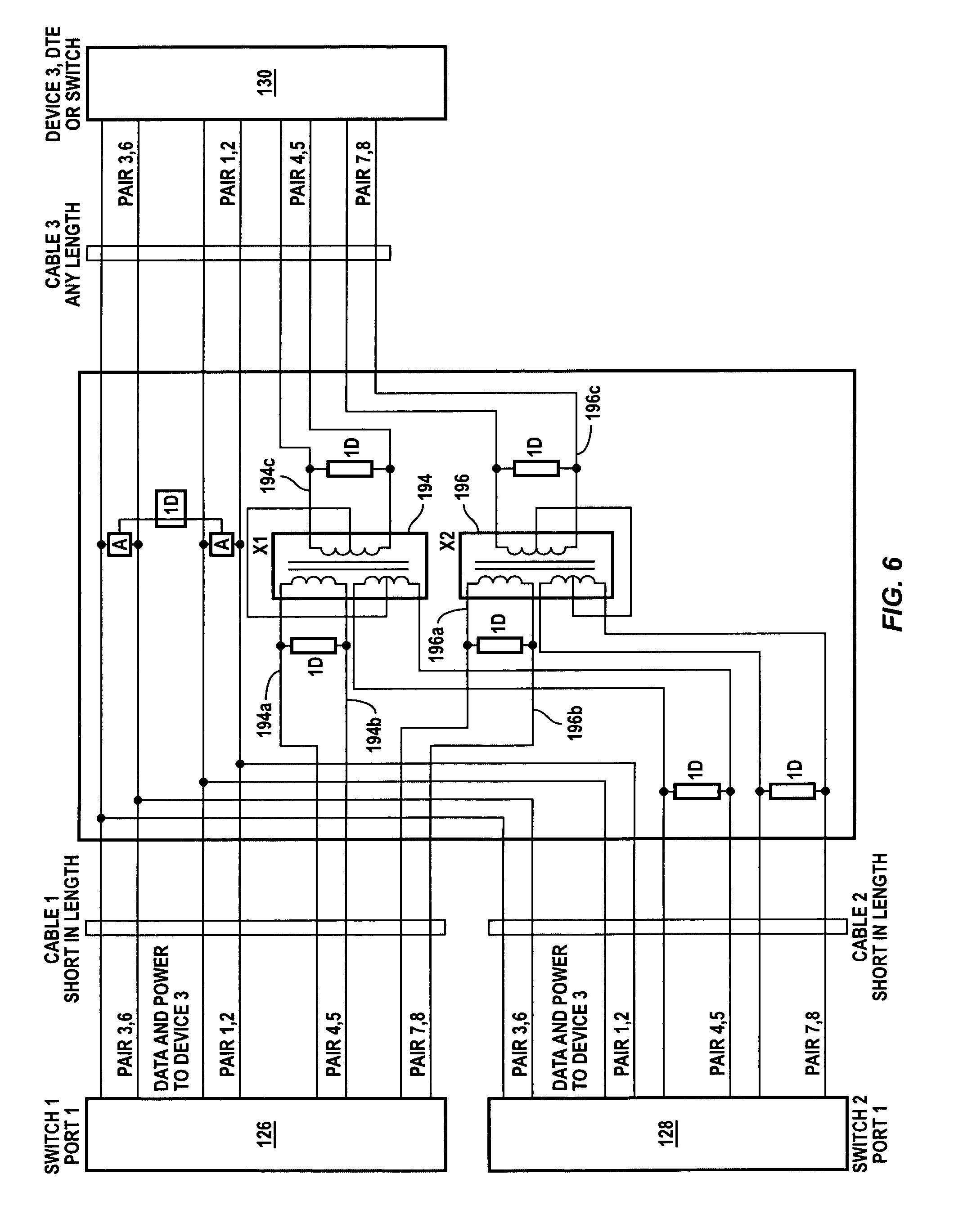 patent us7849351 power and data redundancy in a single wiring patent drawing