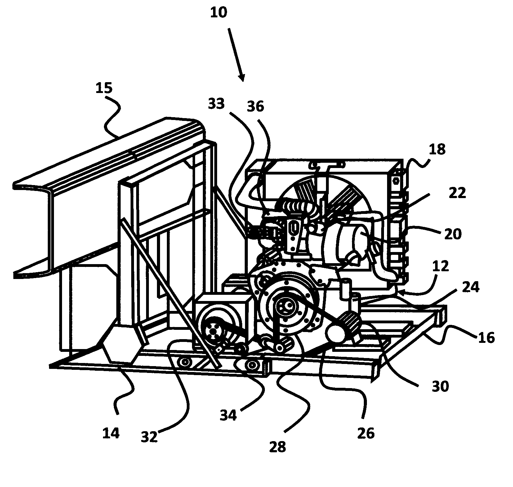 patent us7849680 diesel particulate filter system for auxiliary patent drawing