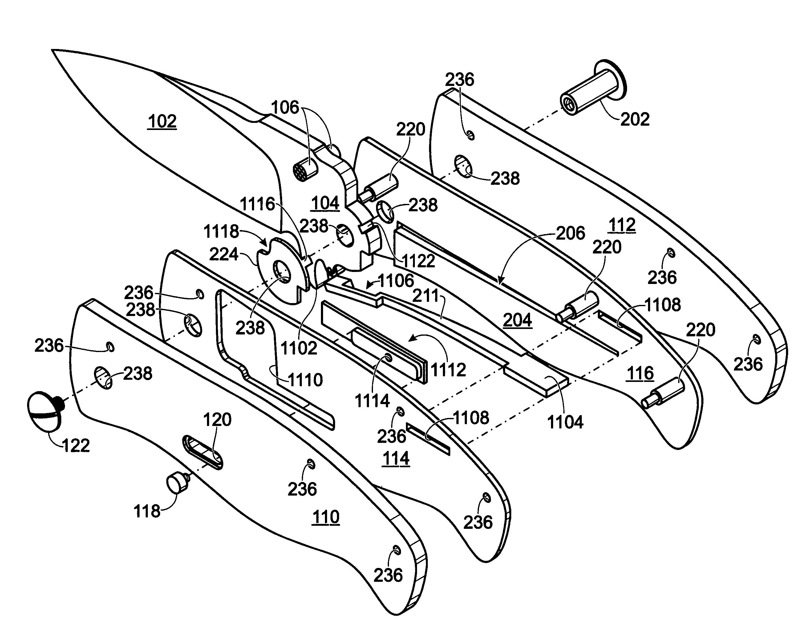 Patent Us7854067 - Low Friction Folding Knife