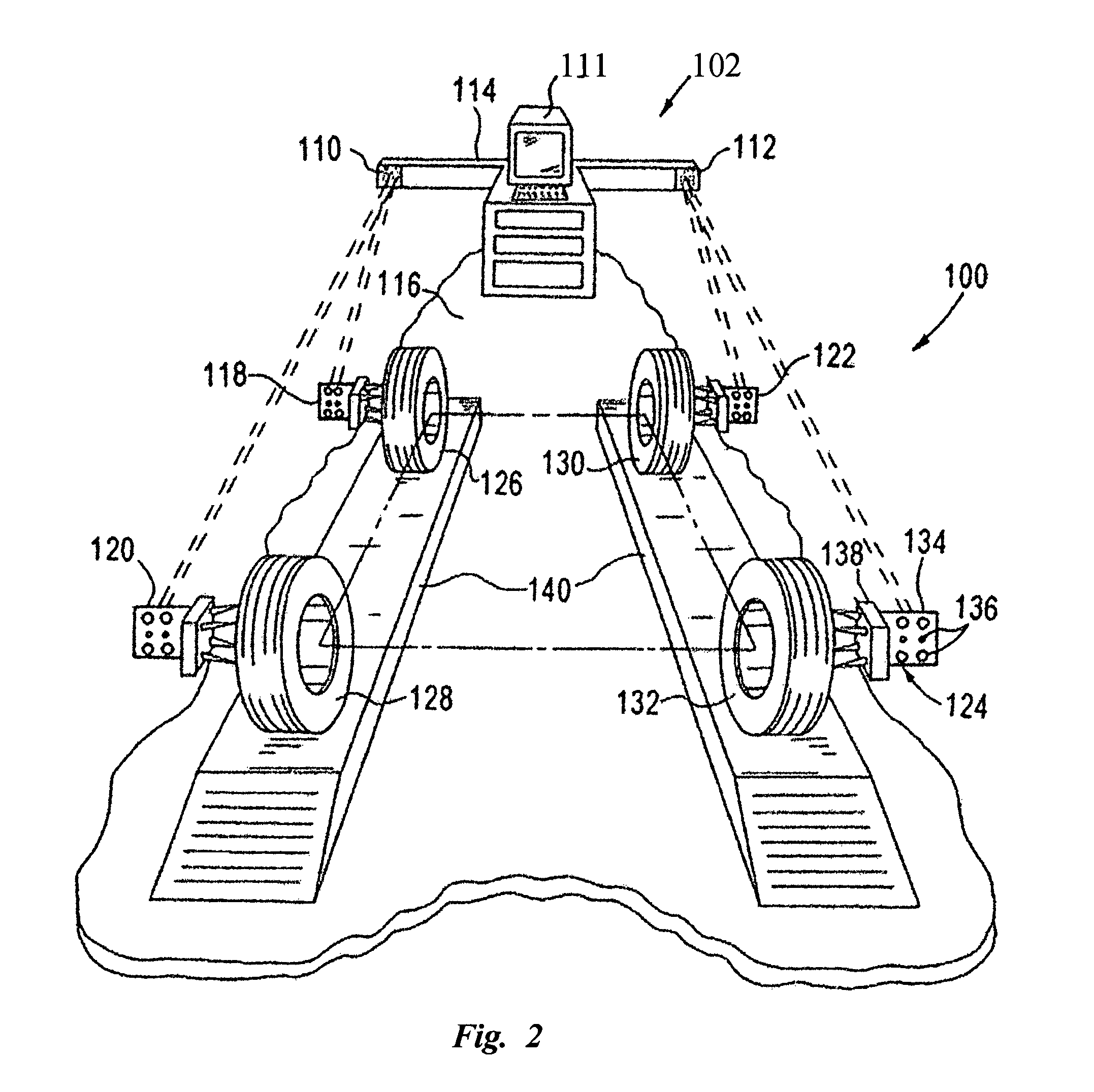 patent us7855783 - integrated circuit image sensor for wheel alignment systems