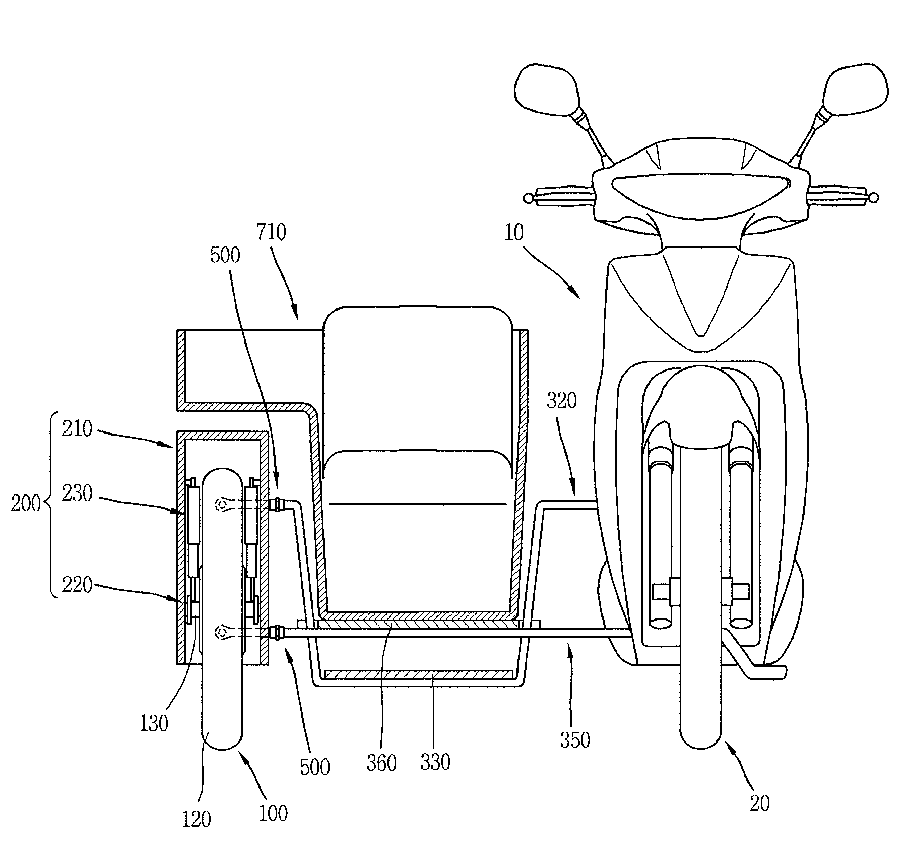 Patent Us7857324 - Motorcycle Sidecar