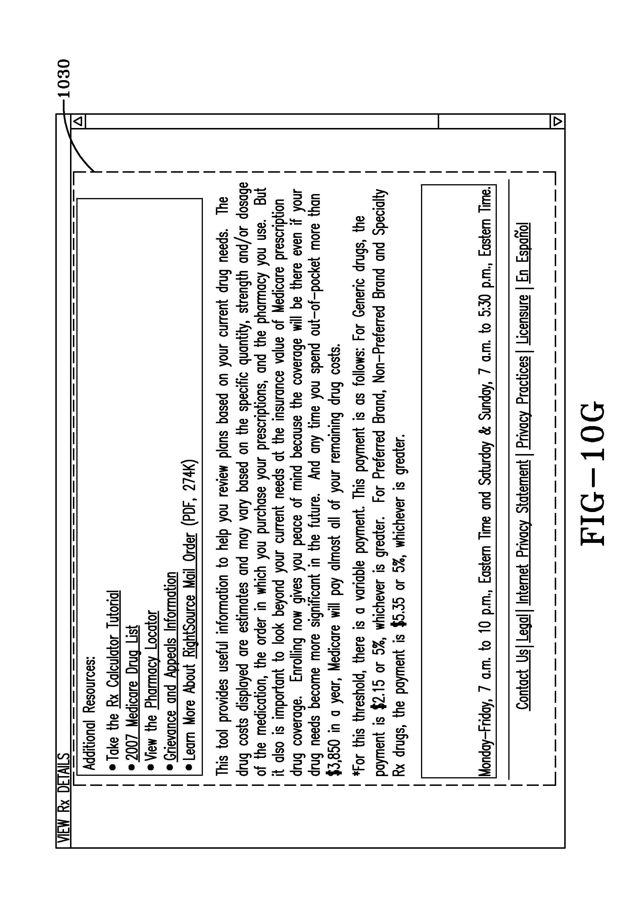 Patent US7860732 - Medicare pharmacy calculator II - Google Patents