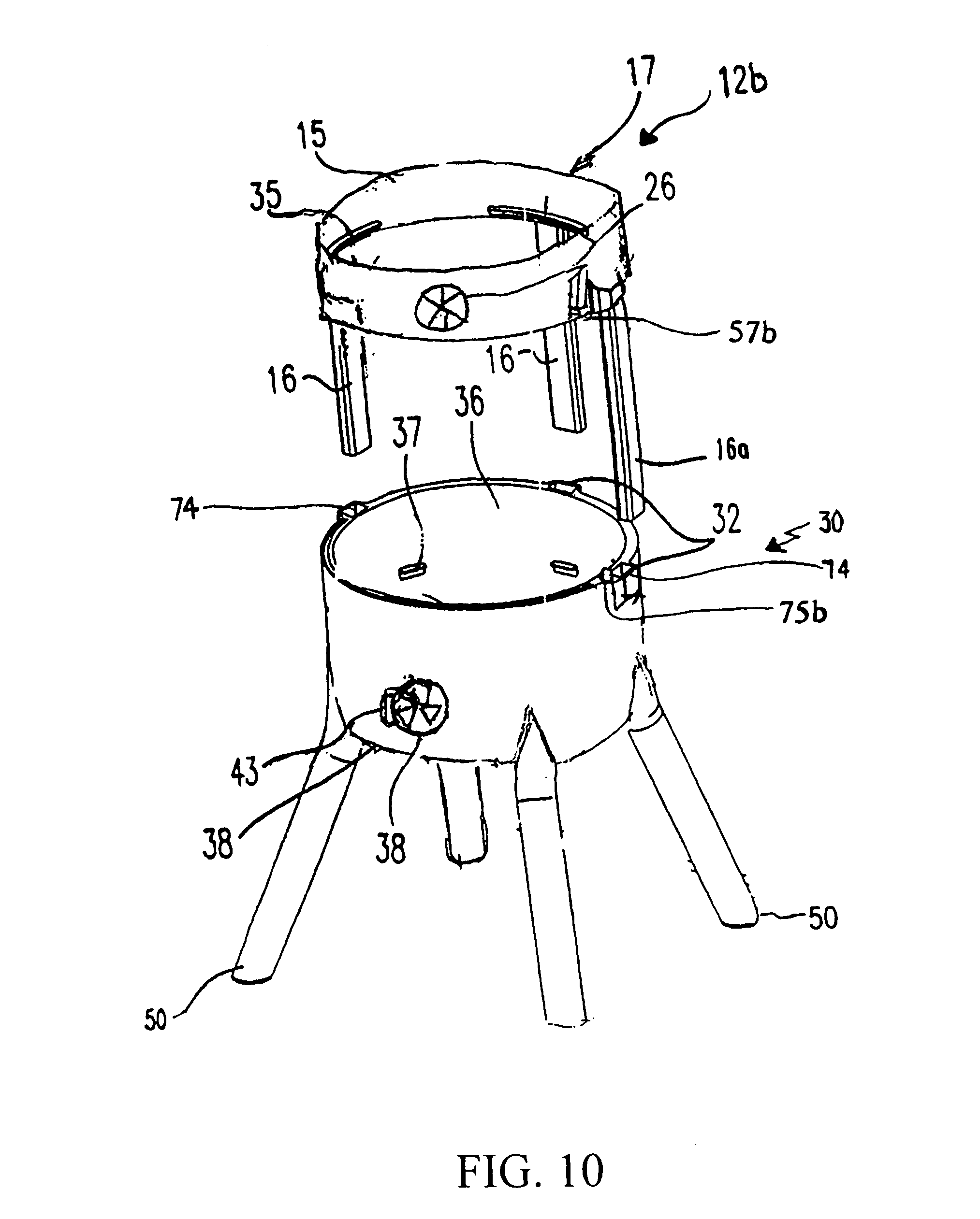 patent us7861705 vertical food smoker cooker google patents