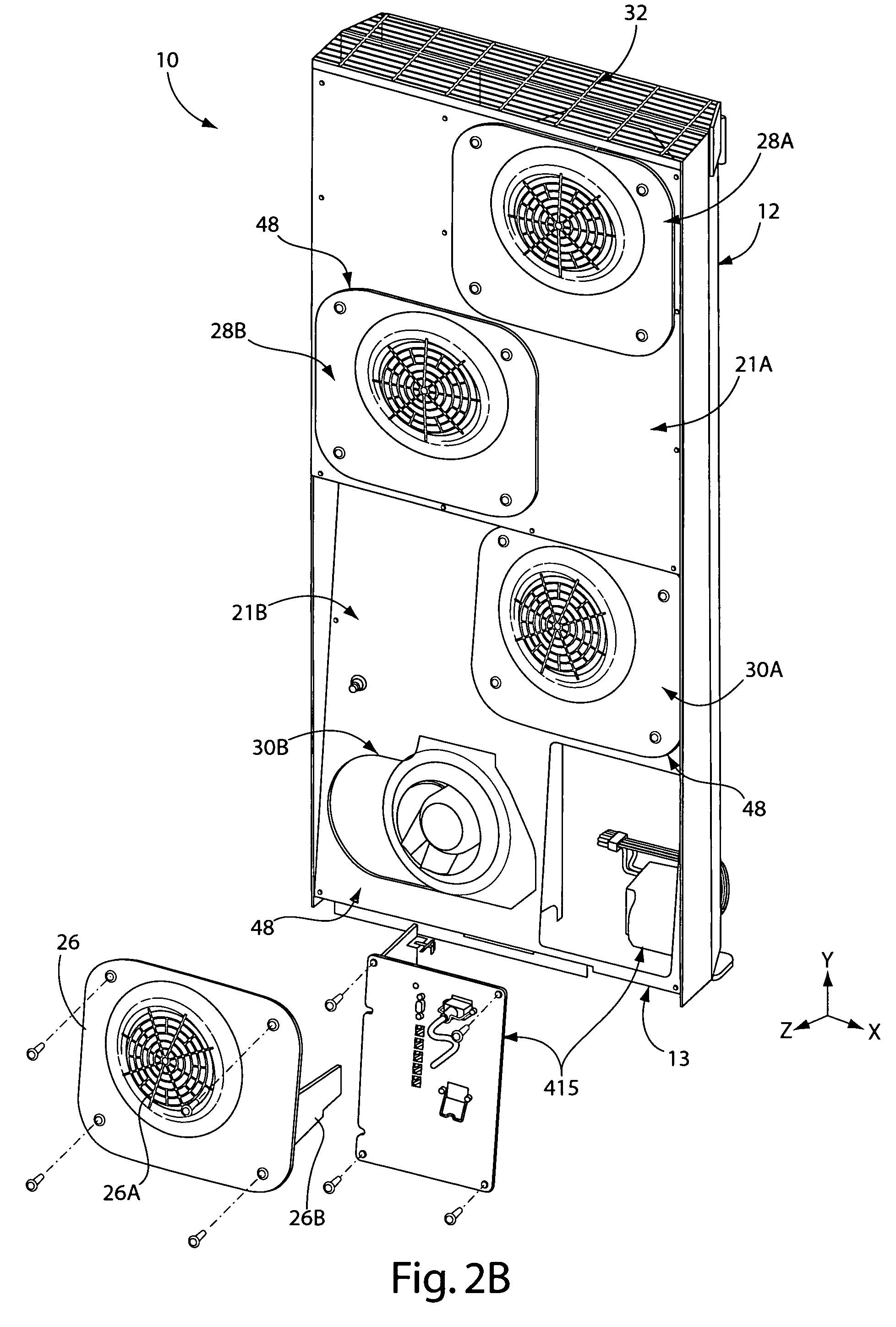 US7862410 besides US8210914 moreover US8210914 also US7120021 additionally US7862410. on data rack cooling fans