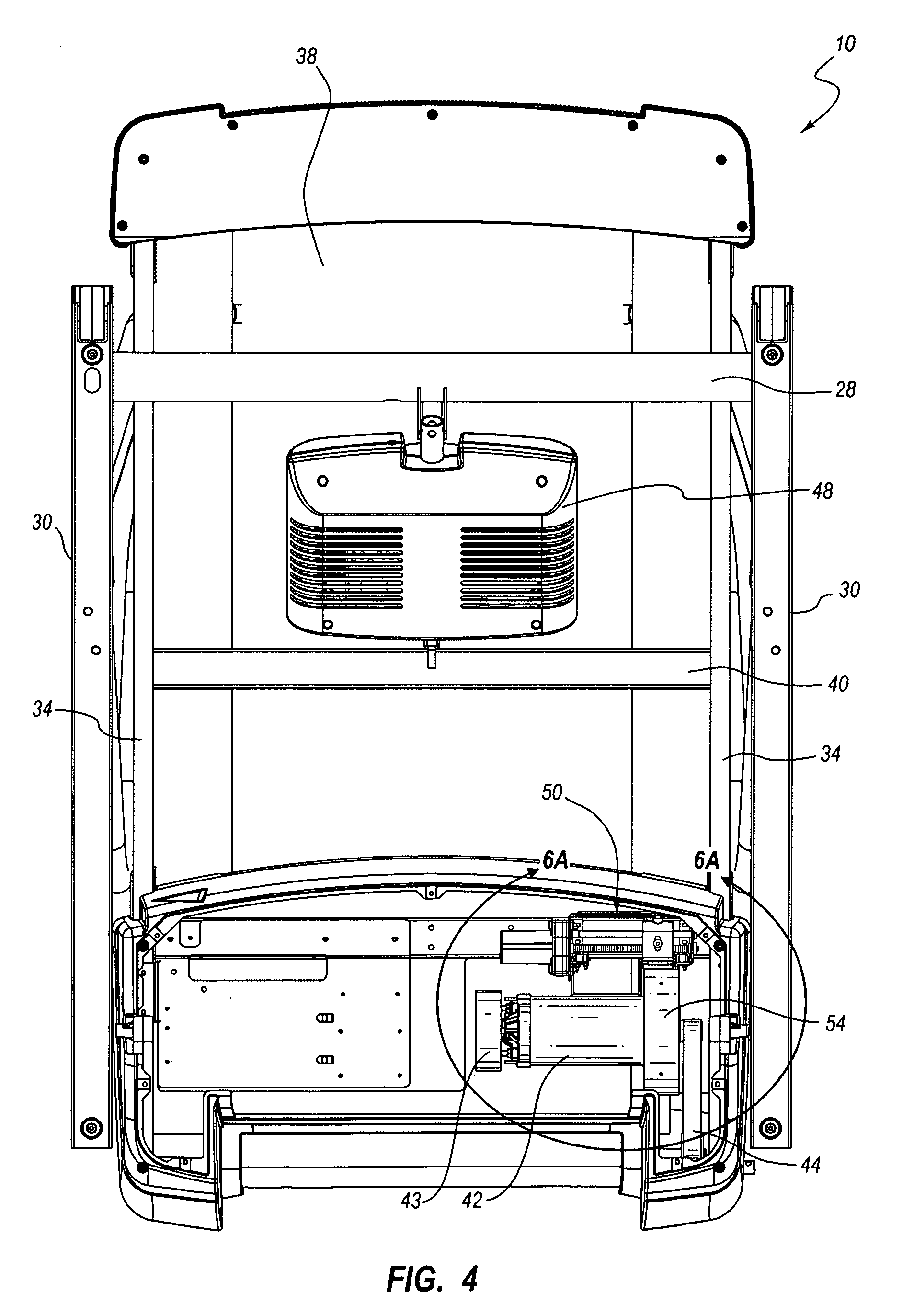 patent us inclining treadmill magnetic braking patent drawing
