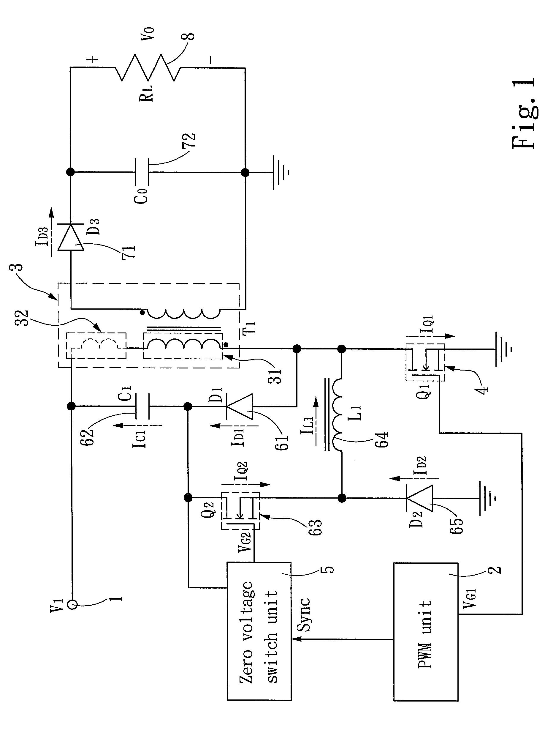 patent us7869235 - flyback converter having an active snubber