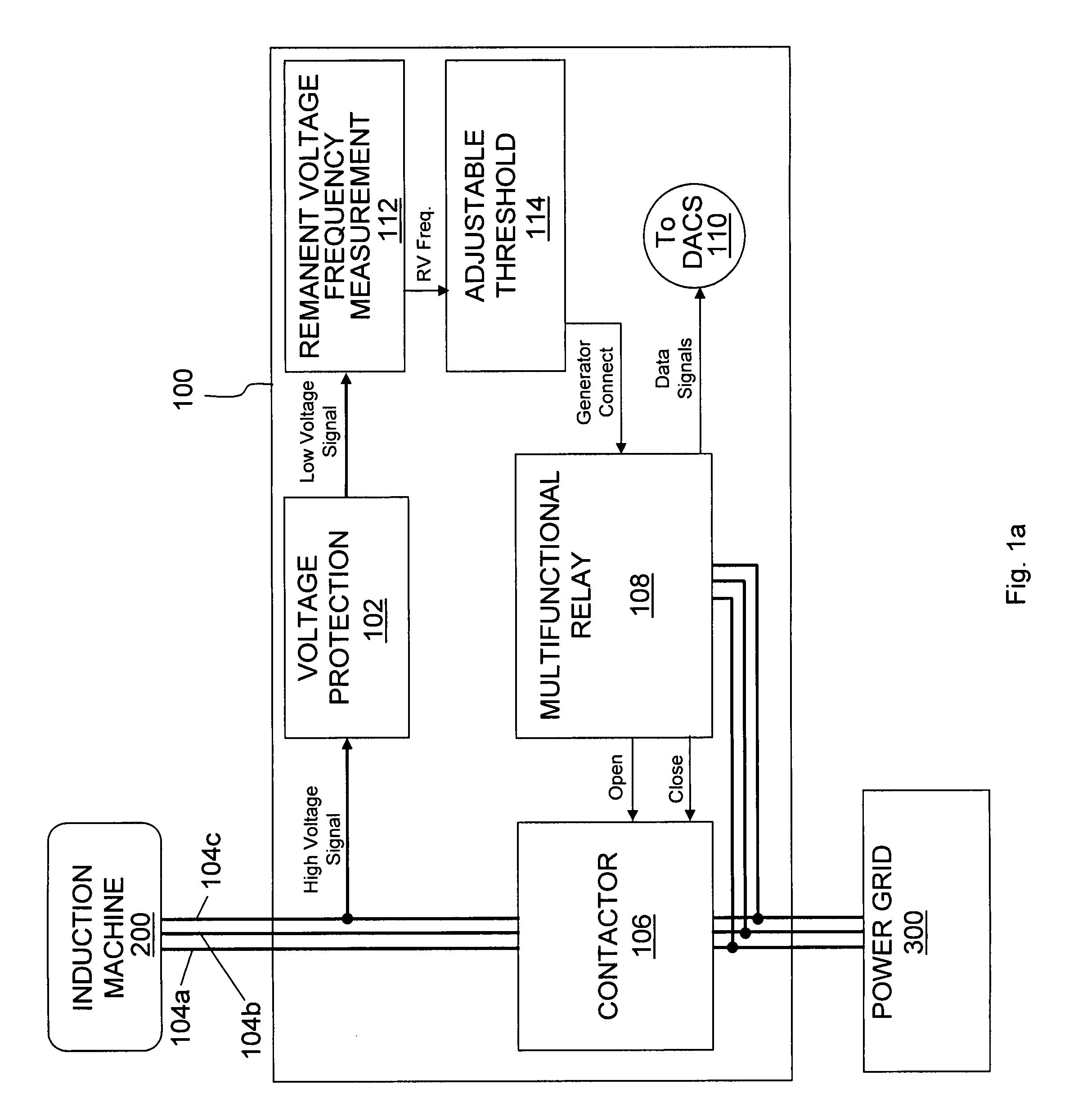 patent us7877170 remanent voltage generator tachometer and control