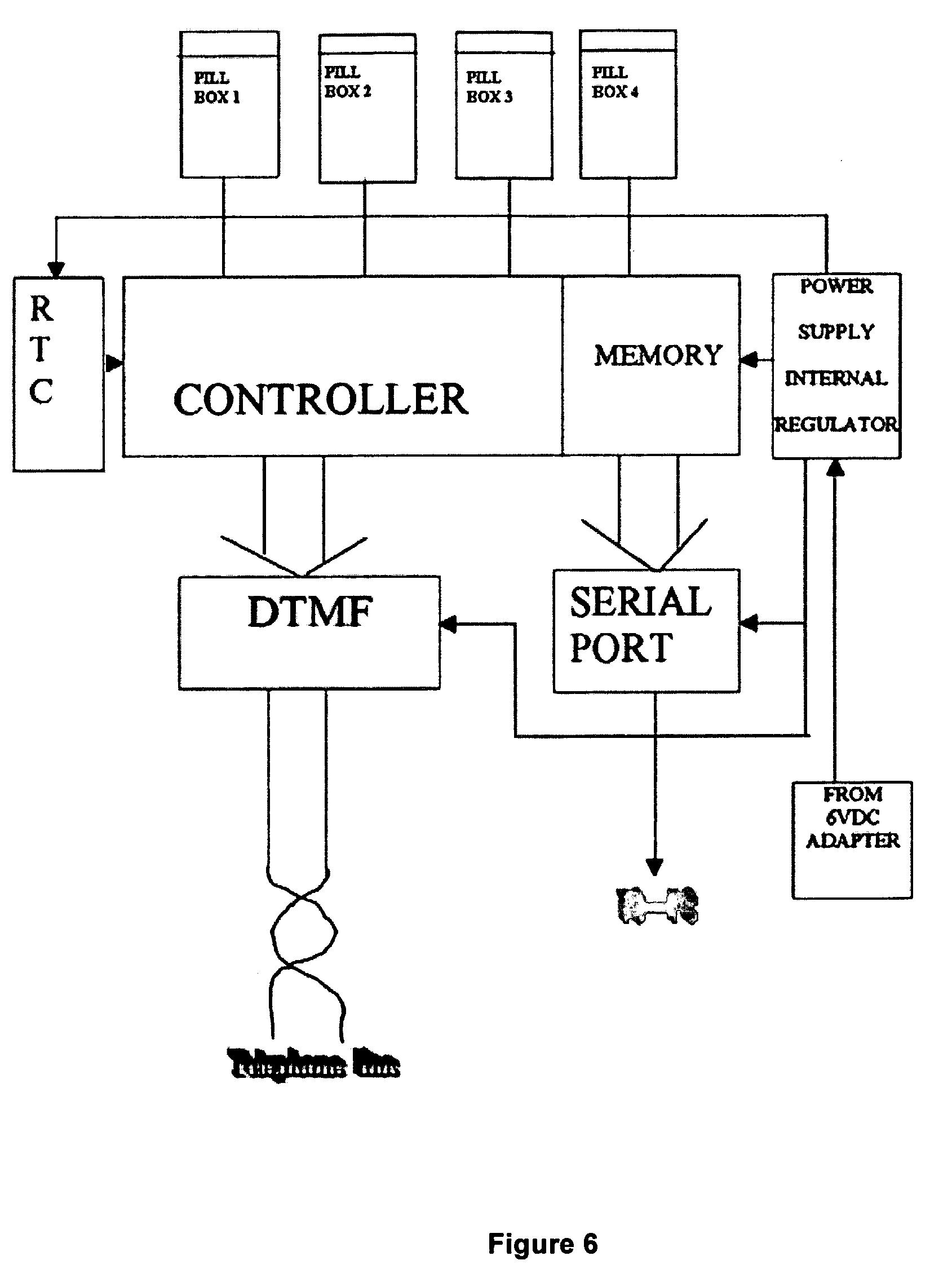 patent us7877268 - intelligent pill box