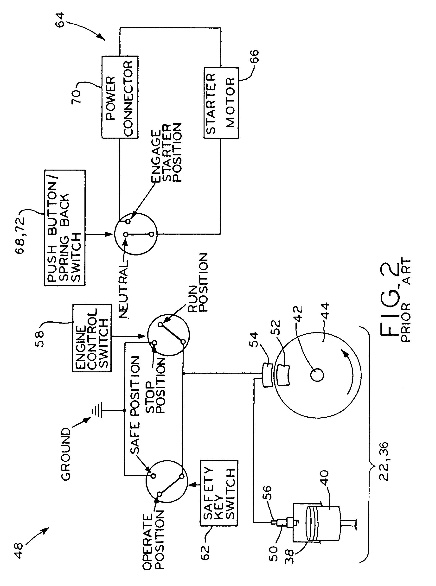 Patent Us7886706 Engine Starting System Google Patenten Governor Linkage Diagrams Besides Briggs Stratton Carburetor Diagram Drawing