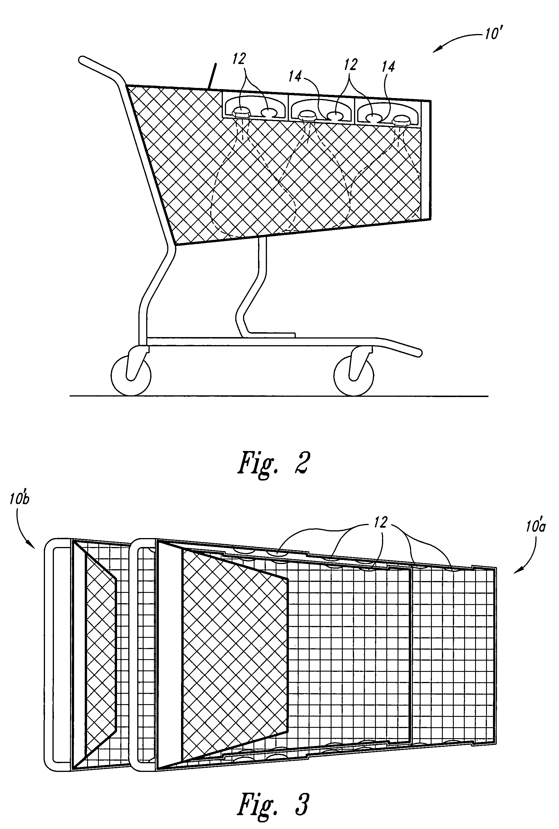 patent us7887068 mutually nestable shopping carts having bag