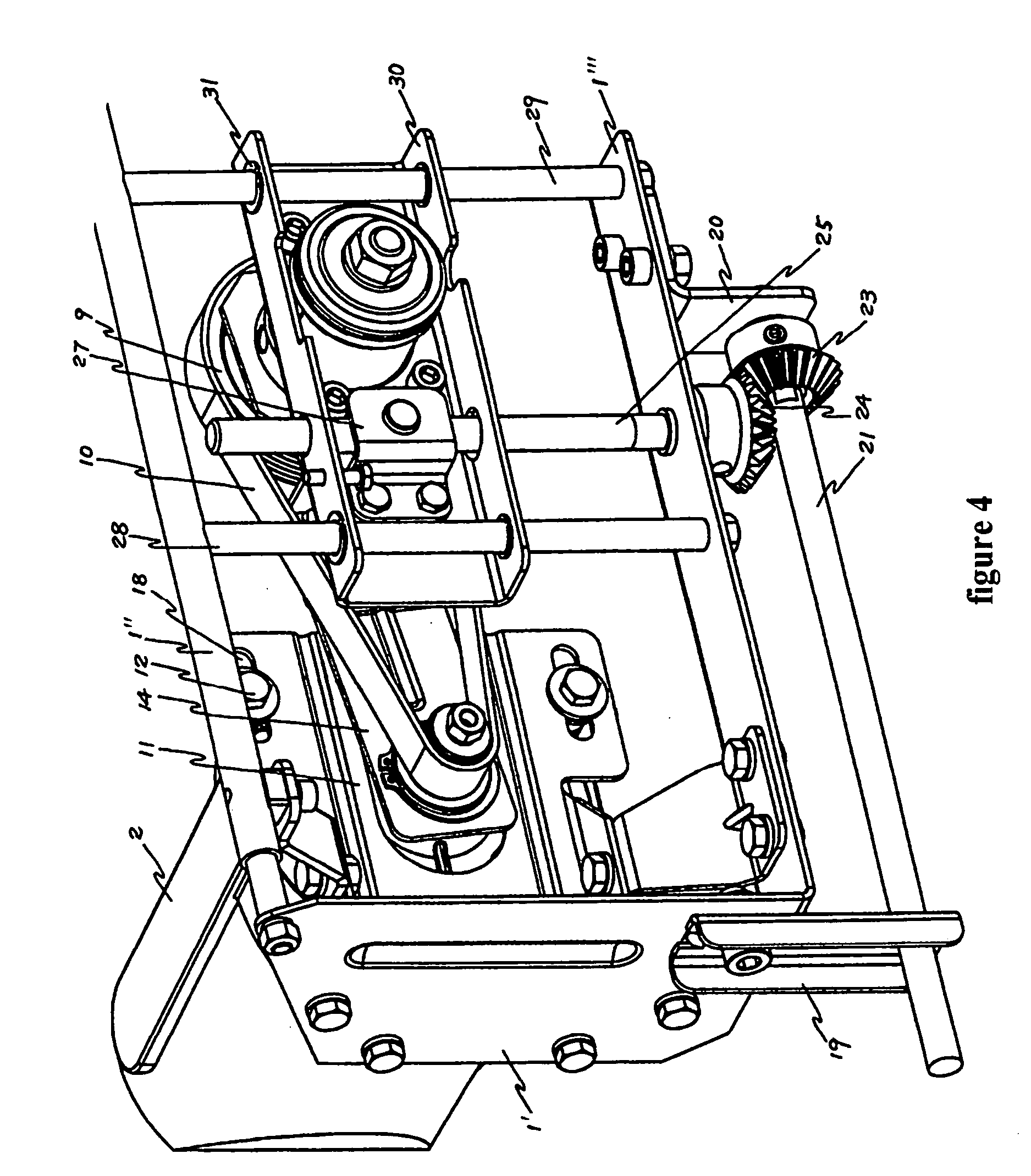 Patent US Blade driving mechanism for a table saw