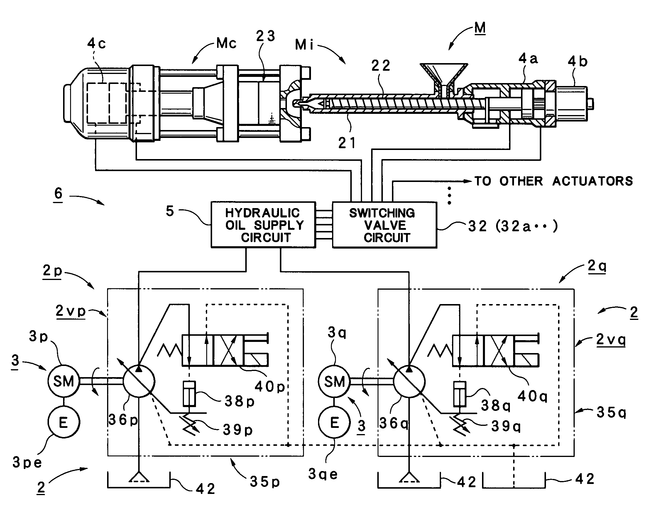 patent us7896637 - injection molding machine
