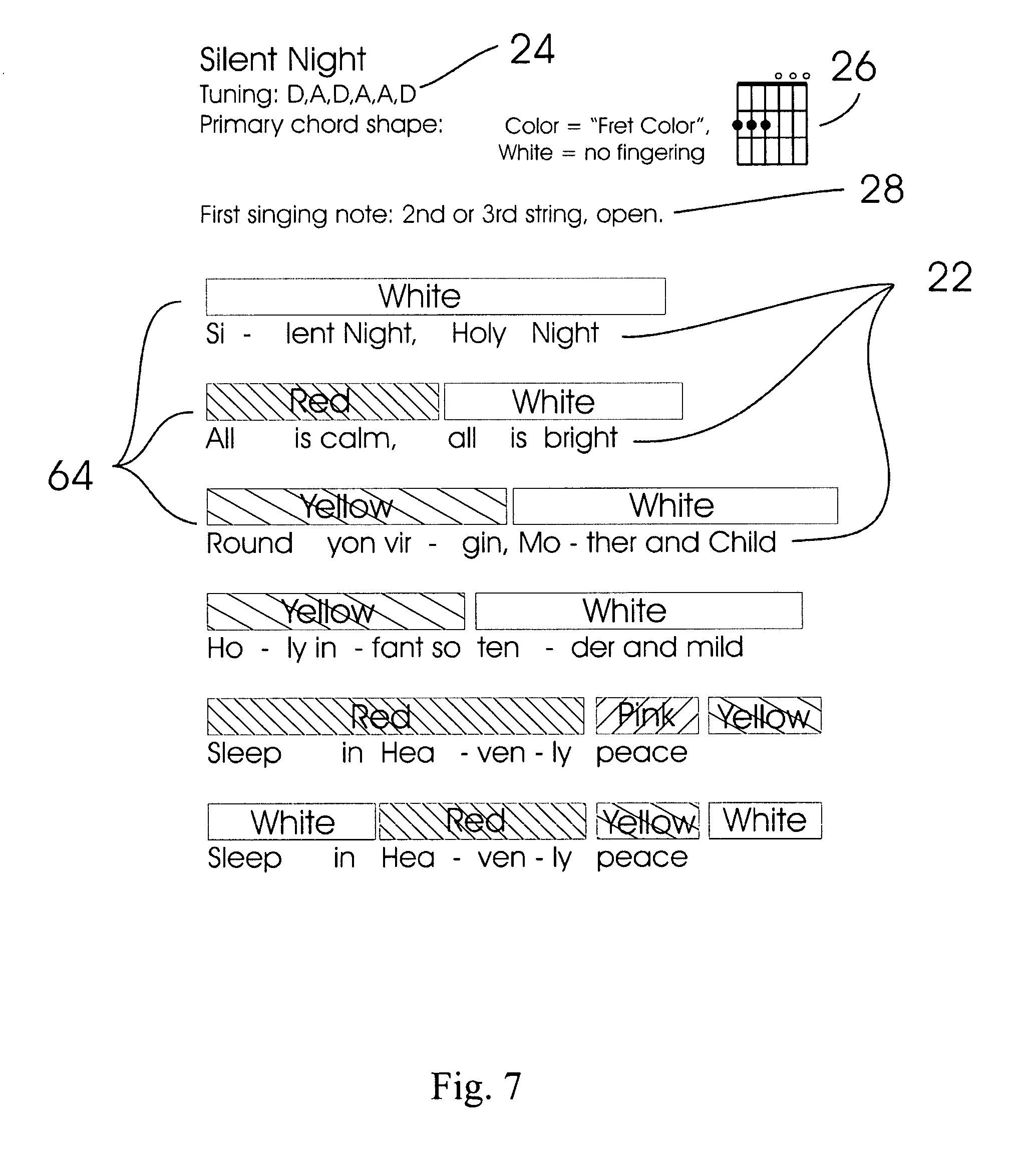 Patent us7897862 stringed instrument learning and teaching patent drawing hexwebz Images