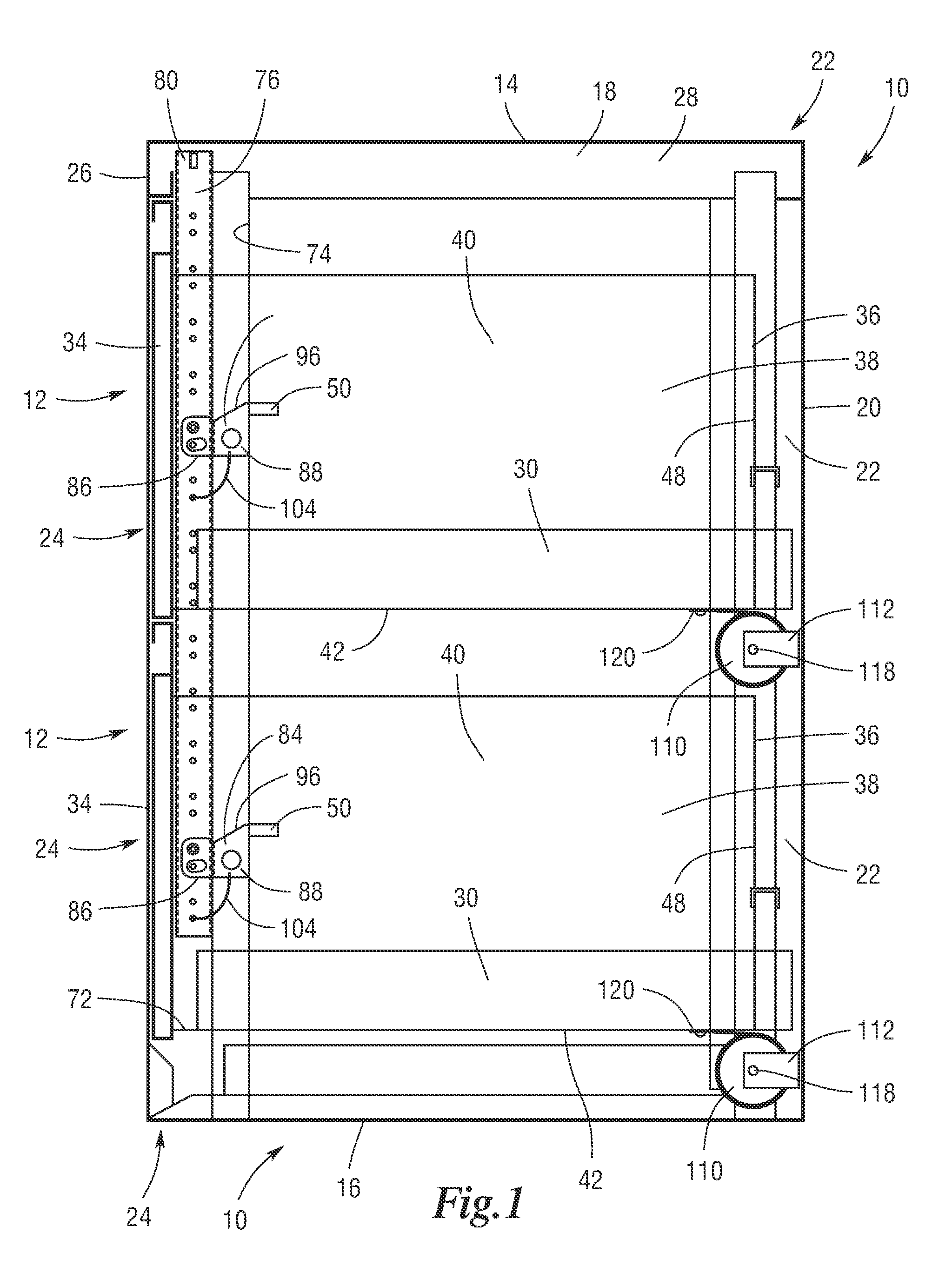 Patent US7901017 - Security file cabinet with self-closing, self ...
