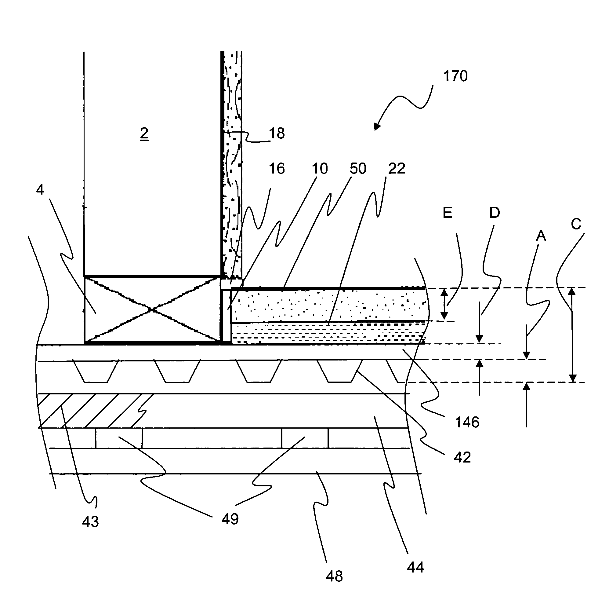 Patent us7908810 corrugated steel deck system including for Balcony noise reduction