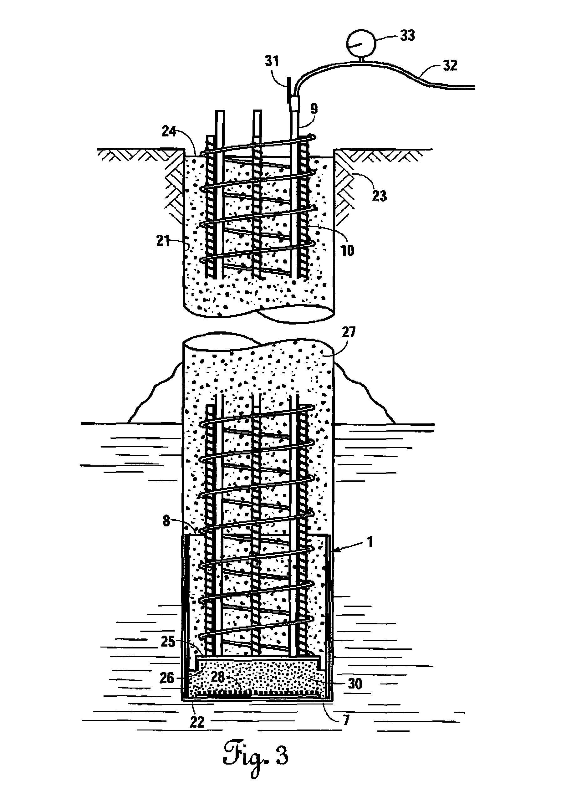 Pile Foundation Drawing : Patent us apparatus and method for improved grout