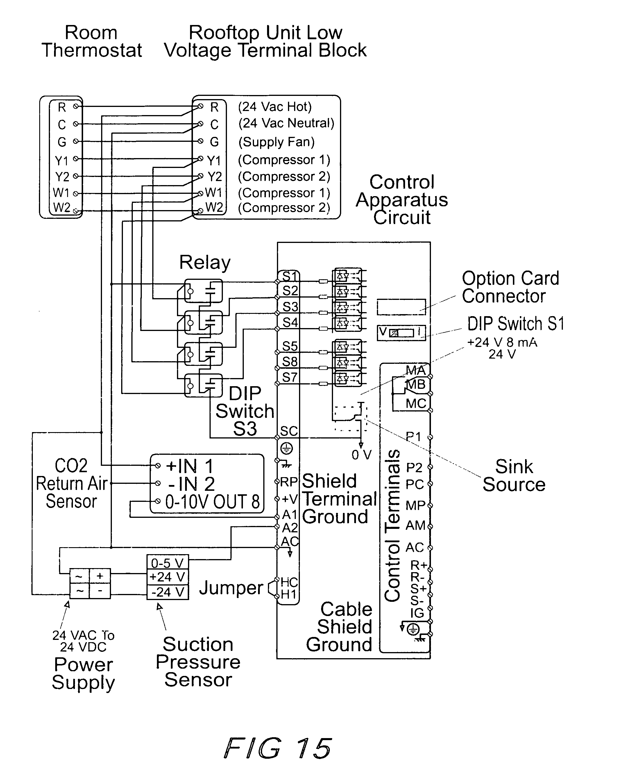 US07918407 20110405 D00012 patent us7918407 method and apparatus for control of cooling trane economizer wiring diagram at bayanpartner.co