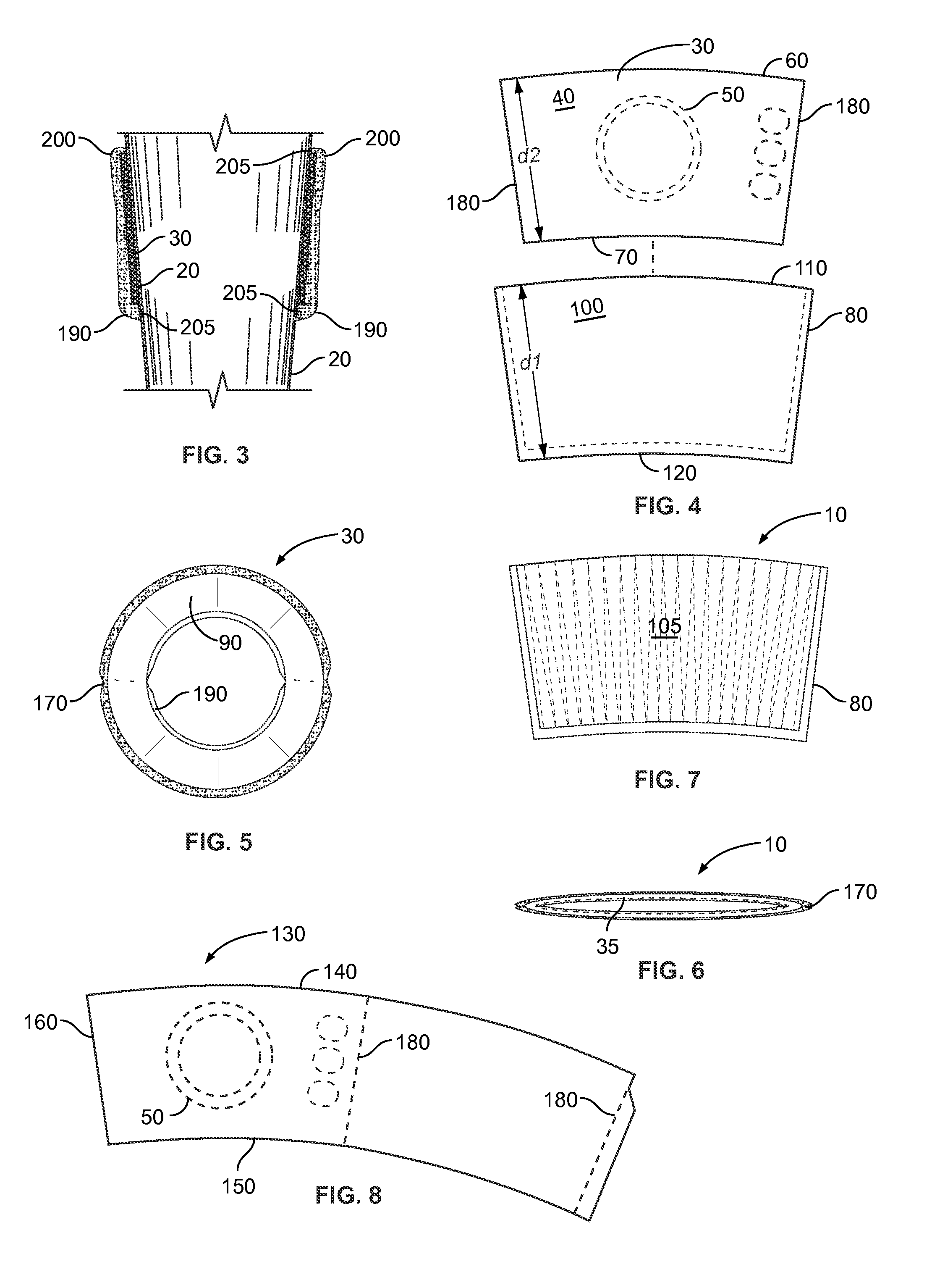 Patent us7922031 insulator sleeve for a beverage container patent drawing pronofoot35fo Gallery