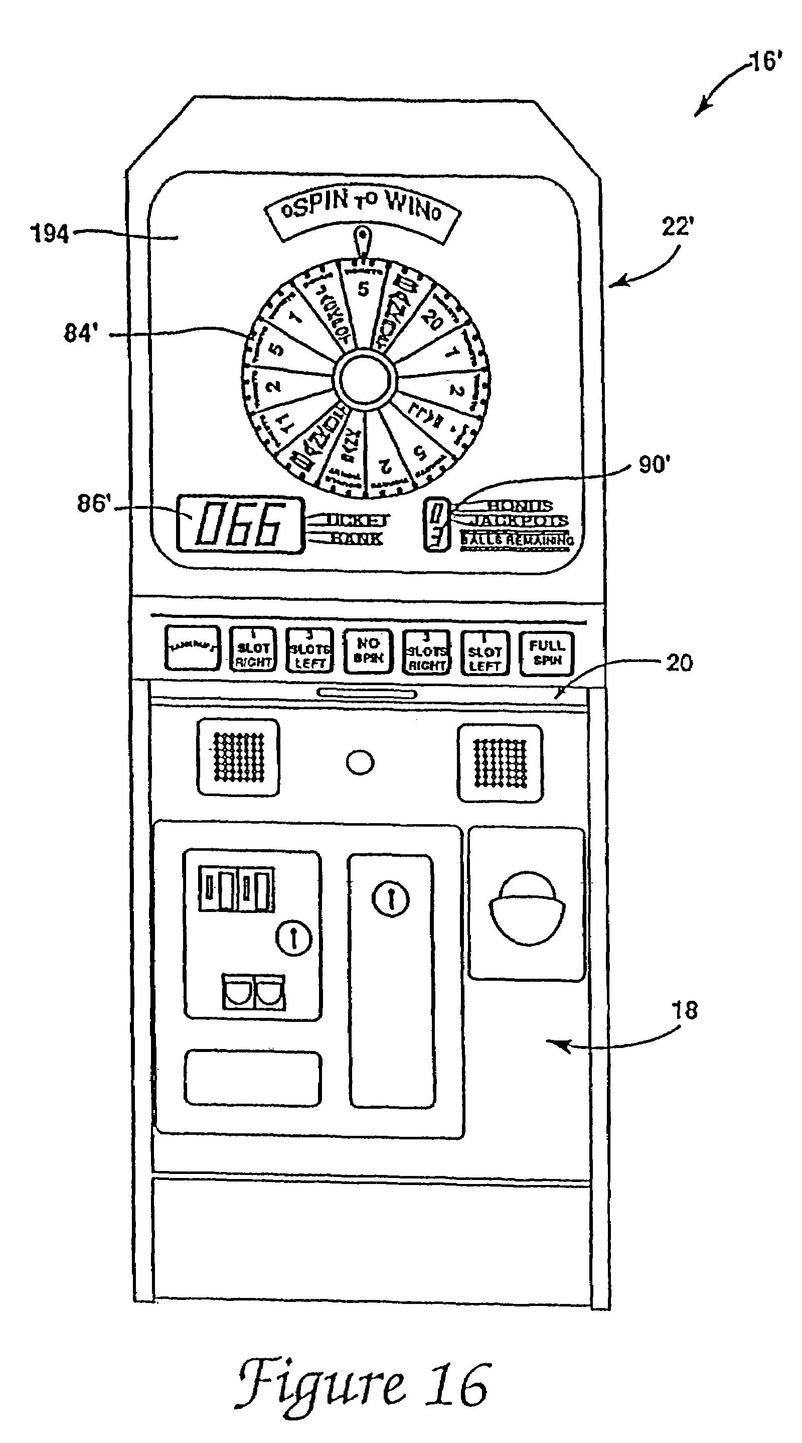 Patente Us7922175 Multi Mode Wheel And Pointer Indicators Google Short Circuit Slot Machine Williams Wms Machines Reel Gambling Patent Drawing