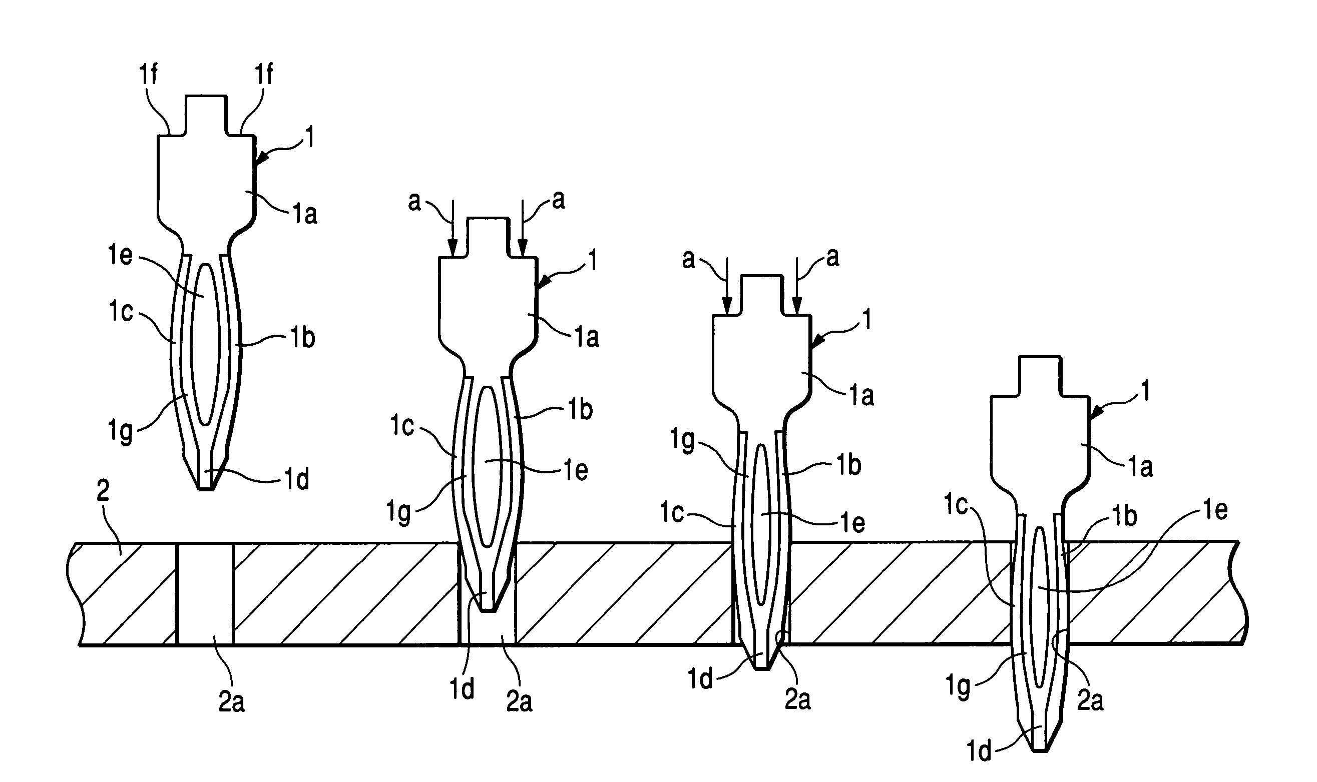 patent us7922545 - press-fit terminal