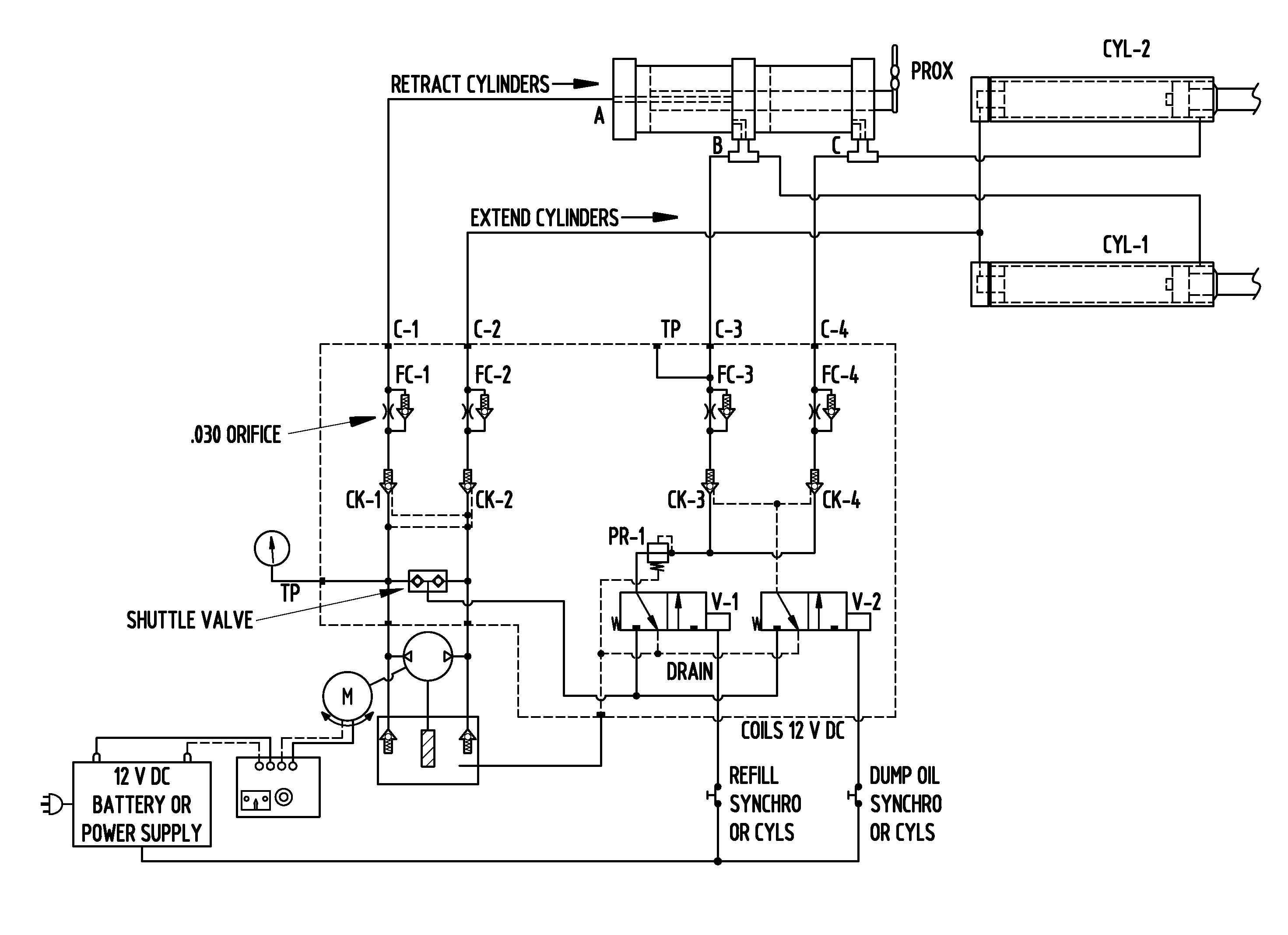 patent us7926410 hydraulic circuit for synchronized horizontal  : hydraulic circuit diagram - findchart.co