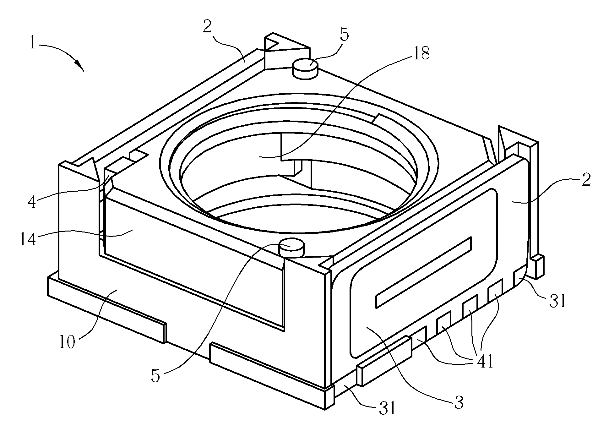 patent us7932645 - voice coil motor with surface coil