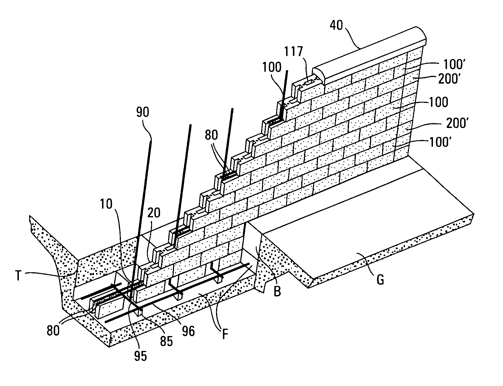 Patent Us7934351 Method Of Constructing A Block Wall