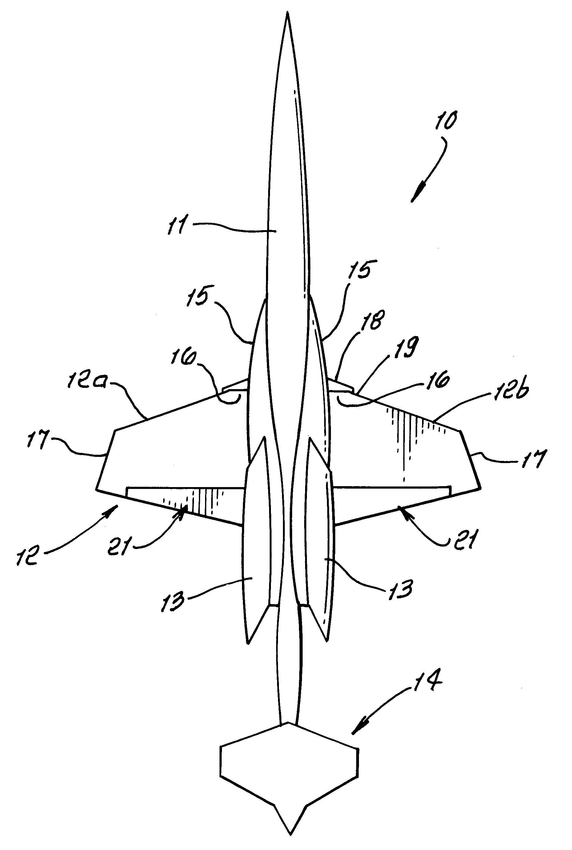 Patent US7946535 Highly efficient supersonic laminar flow wing Google Patents