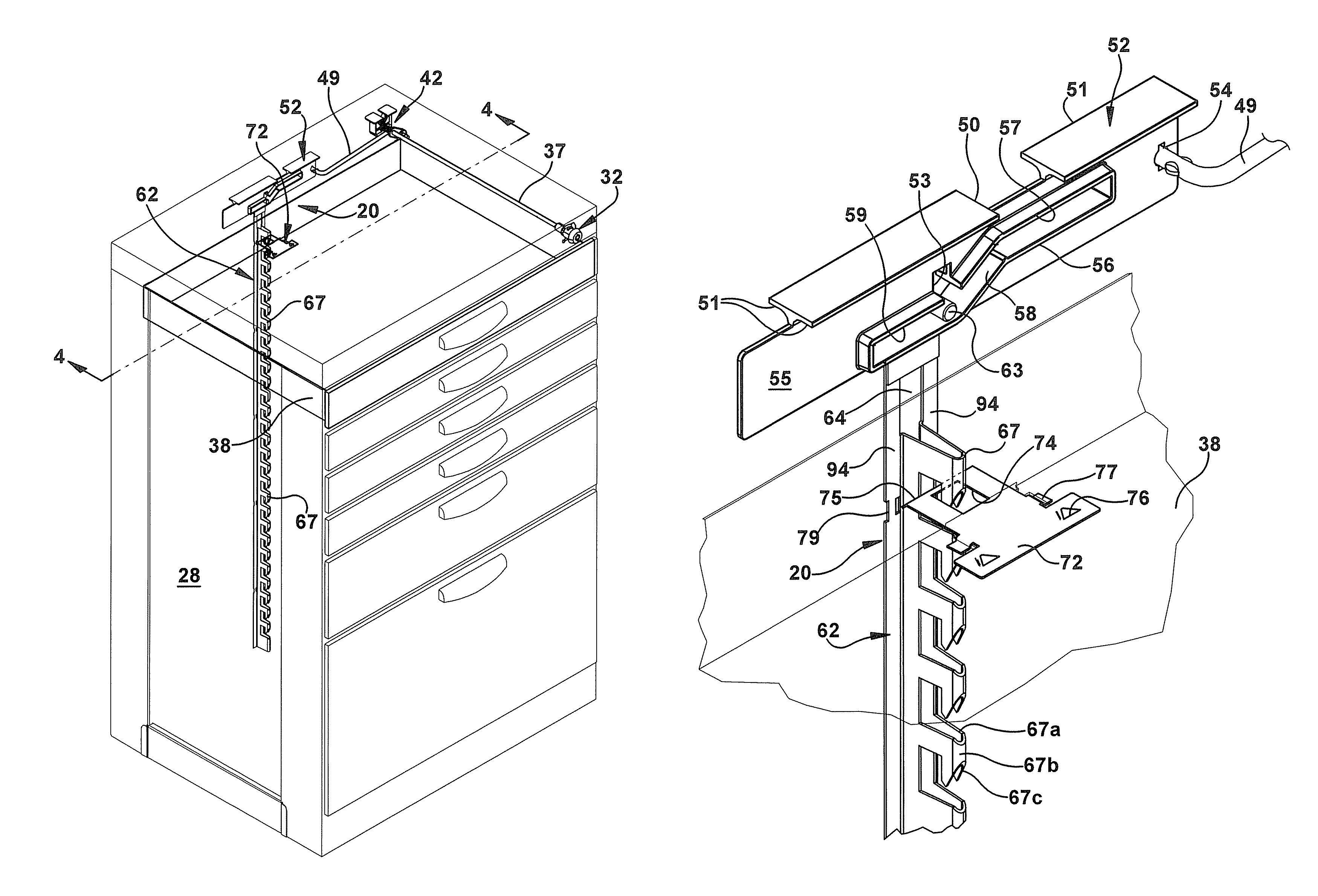 Patent US7946663 - Drawer lock mechanism - Google Patents