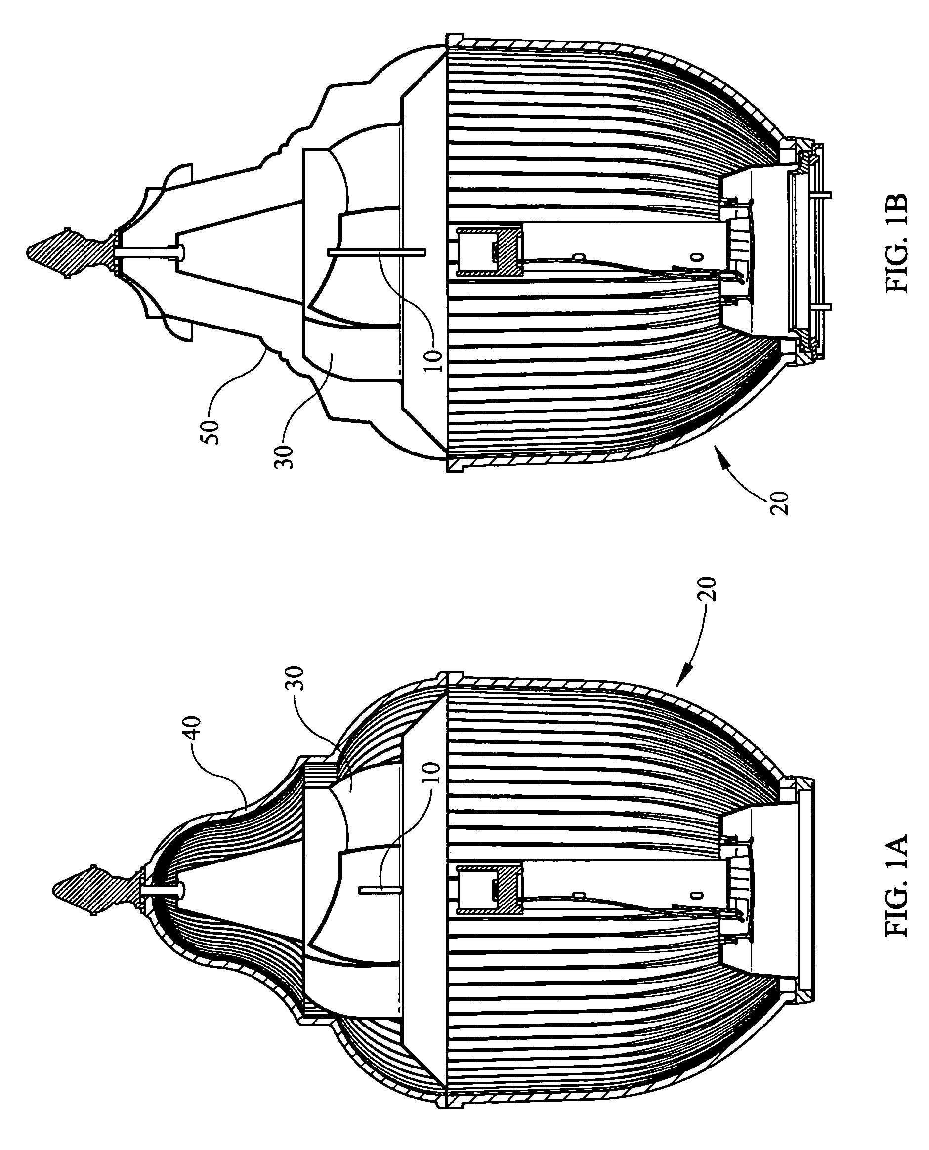 Patent Us7946734 Low Up Light Cutoff Acorn Style Luminaire Google Wiring Outdoor Lights Drawing