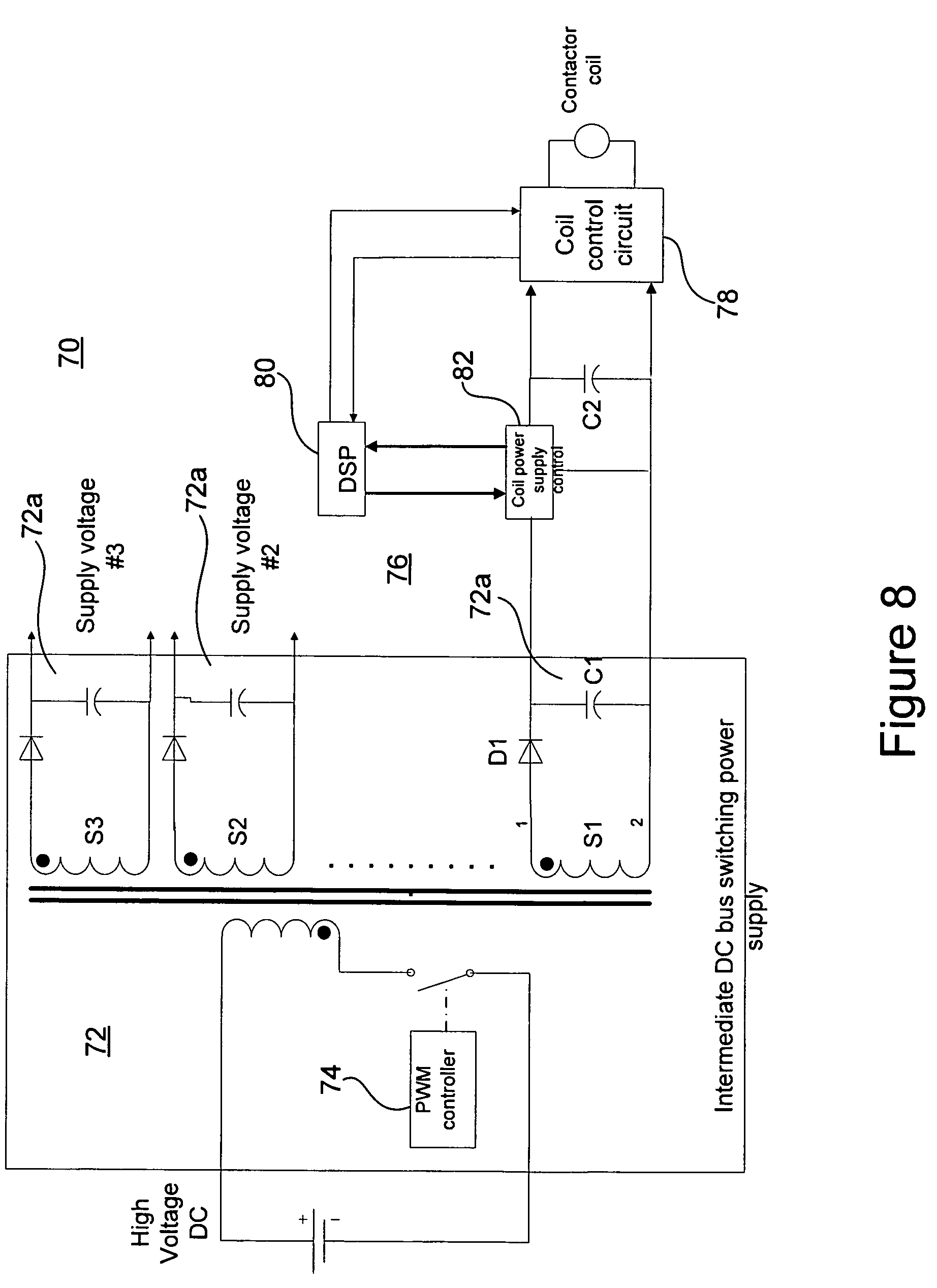 Patent Us7948721 Ac Motor Bypass With Fault Annunciation Serial Yaskawa Vfd Wiring Diagrams Drawing