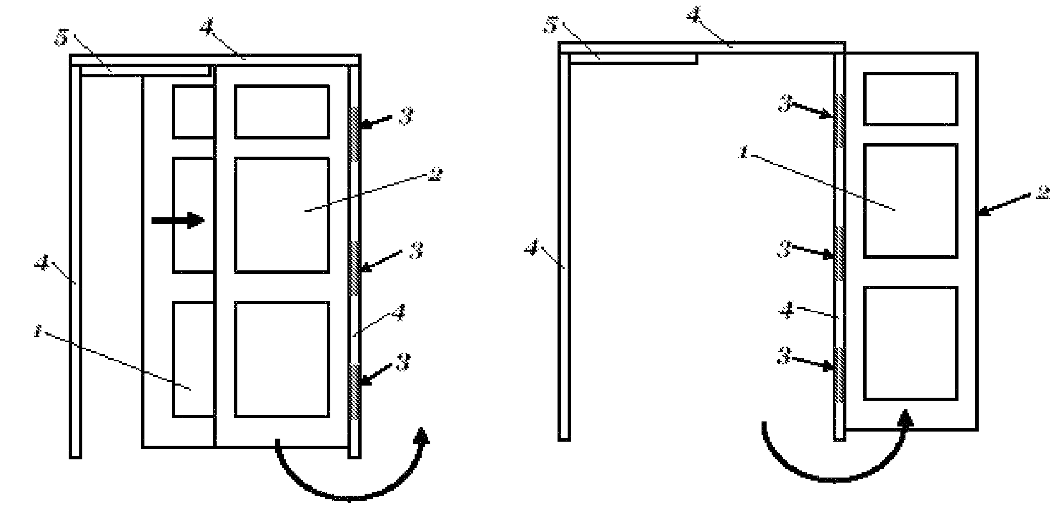 Swing Hinges Patent Us7950439 Combination Action Slide And Hinge Swinging
