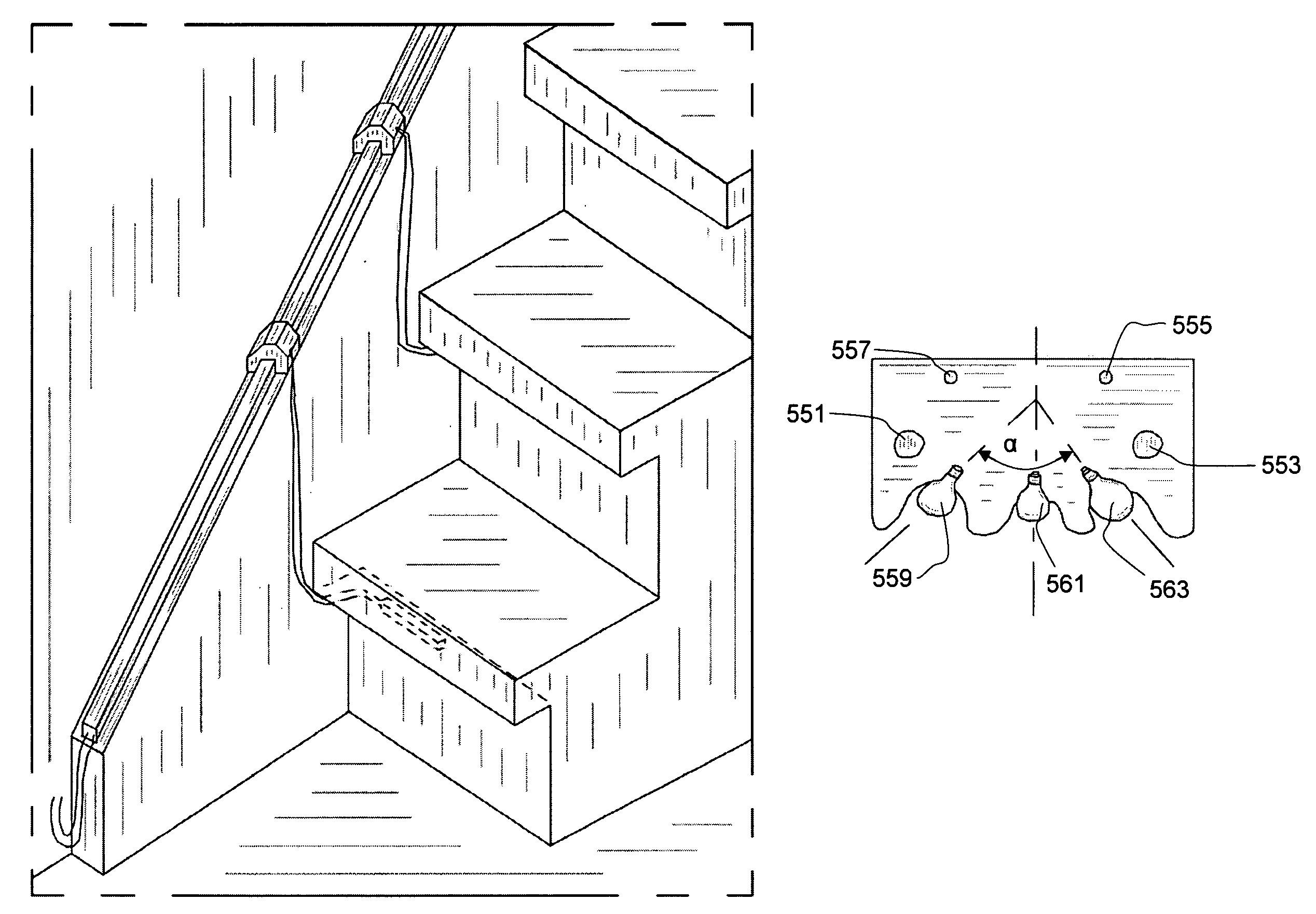 patent us7954973 - stair lighting system  and method for its implementation