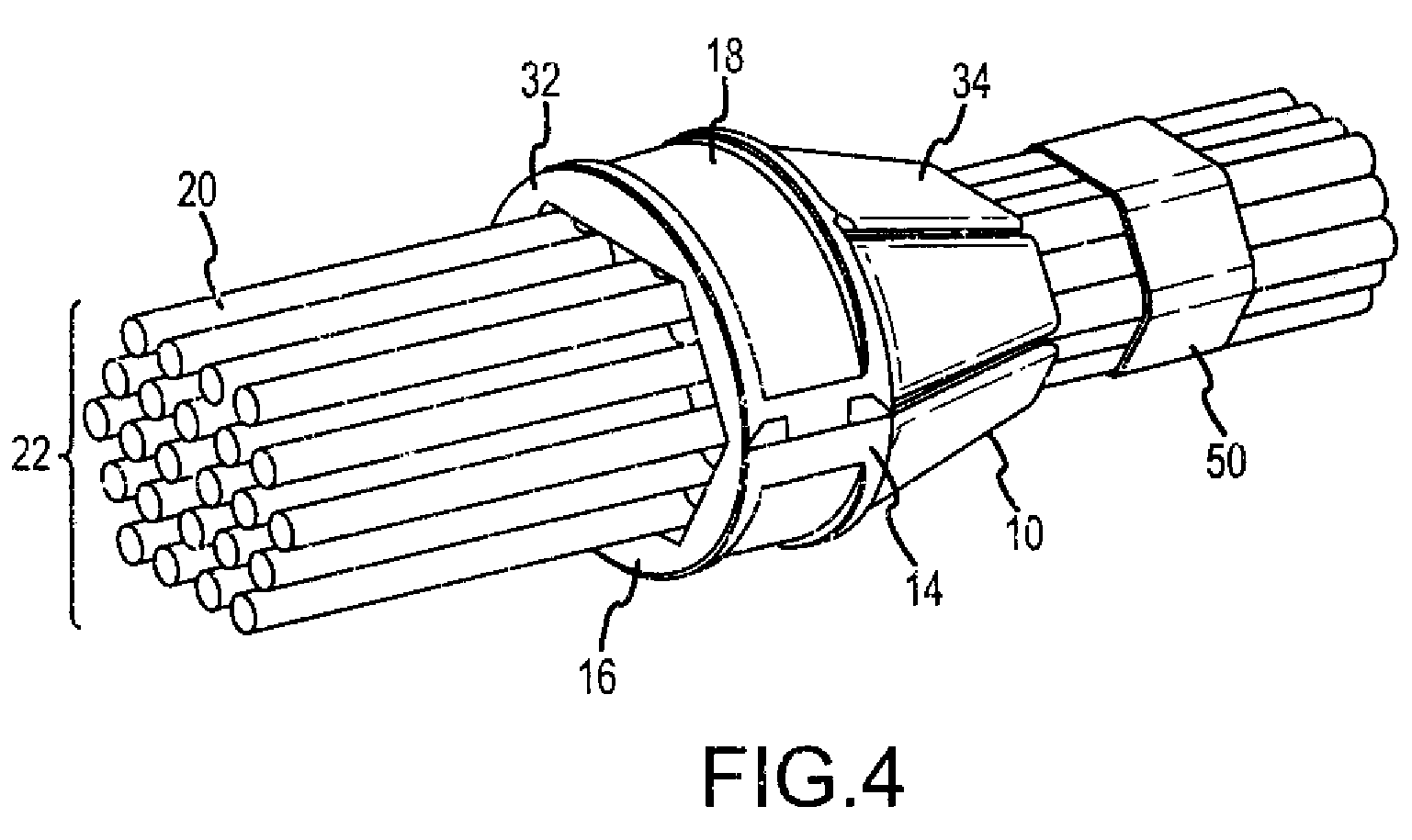 patent us7959113 - network cable bundling tool