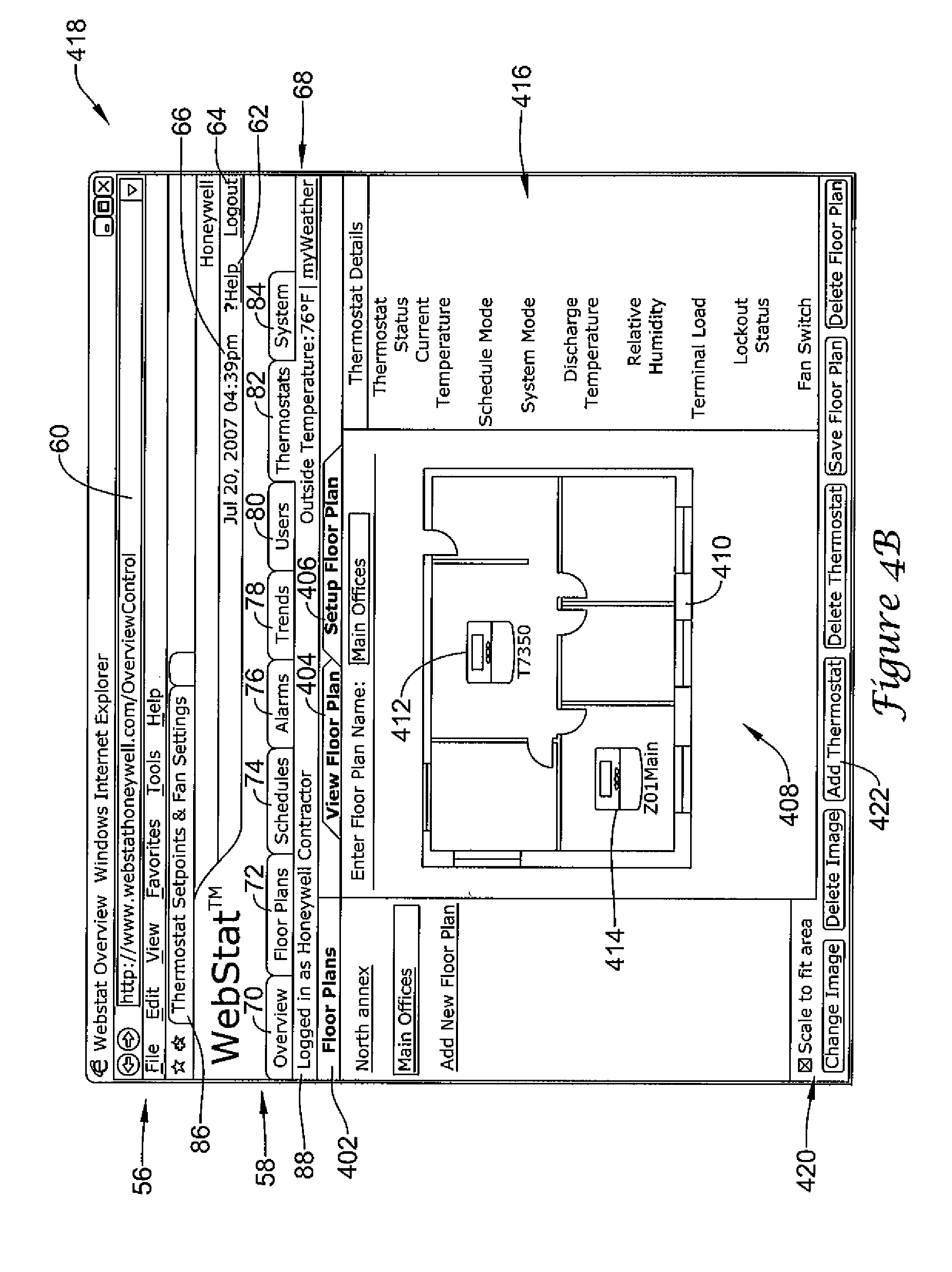 Patent Us7963454 Remote Hvac Control With Sensor Wiring January 2014 Diagram Drawing