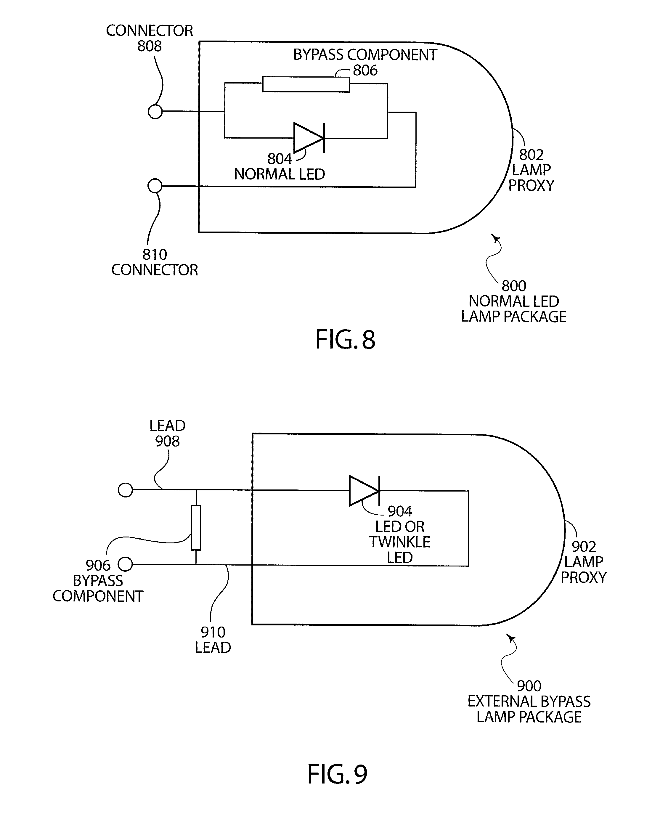 patent us7963670 bypass components in series wired led light patent drawing