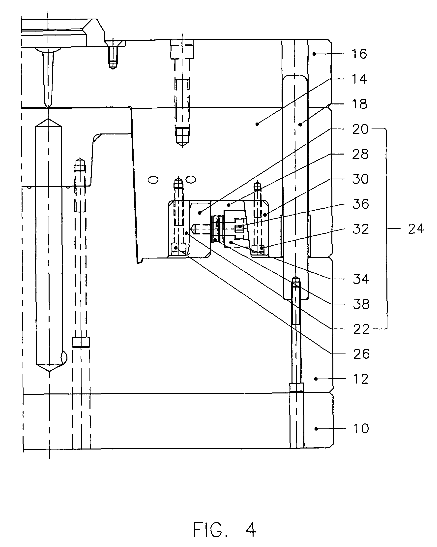 patent us7972127 wedge lock system for injection molds google