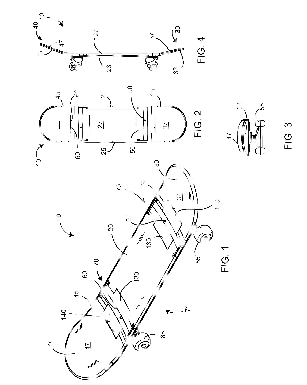 Patent US4234204 - Skateboard - Google Patents