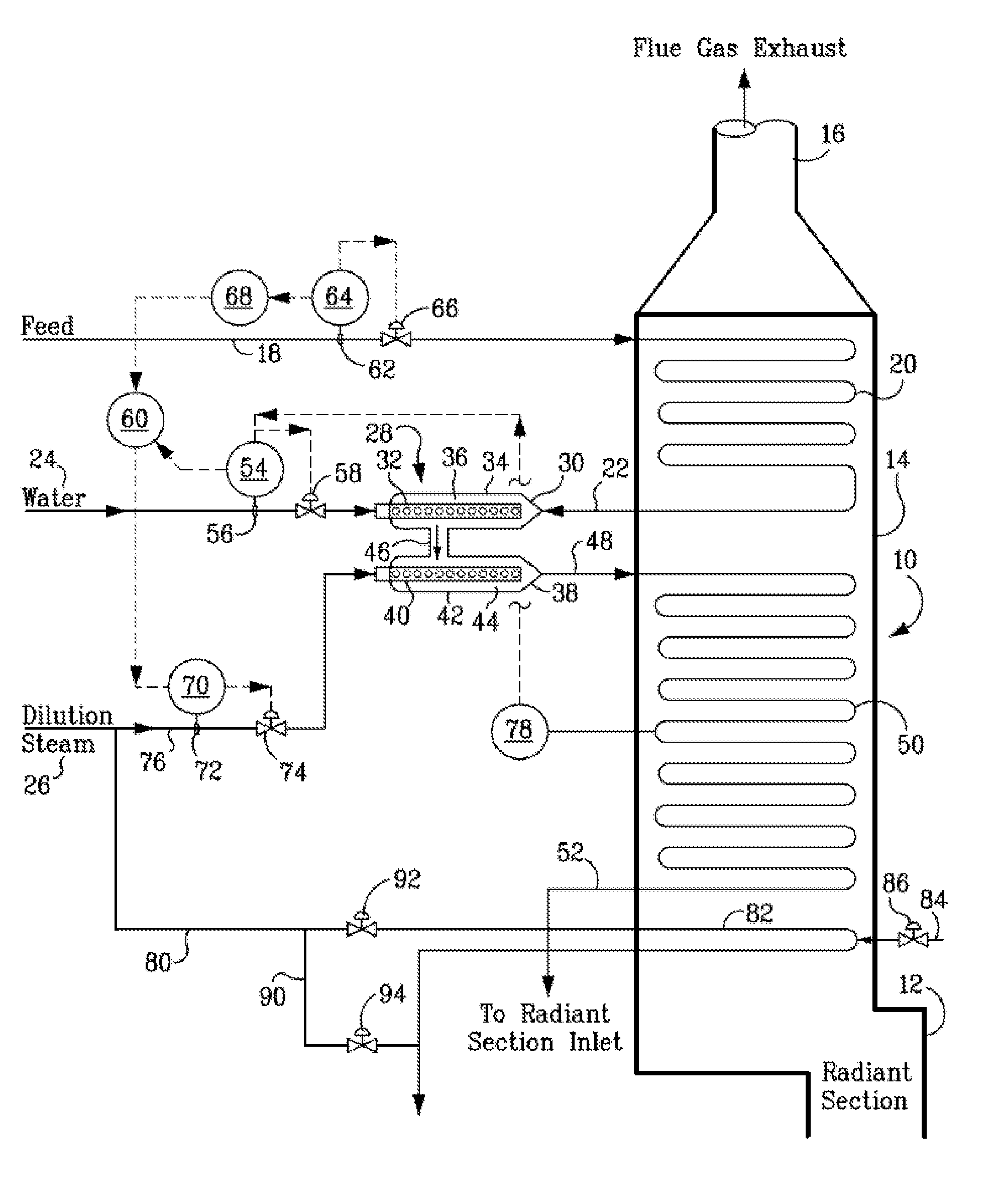 radiant heat water heater diagram