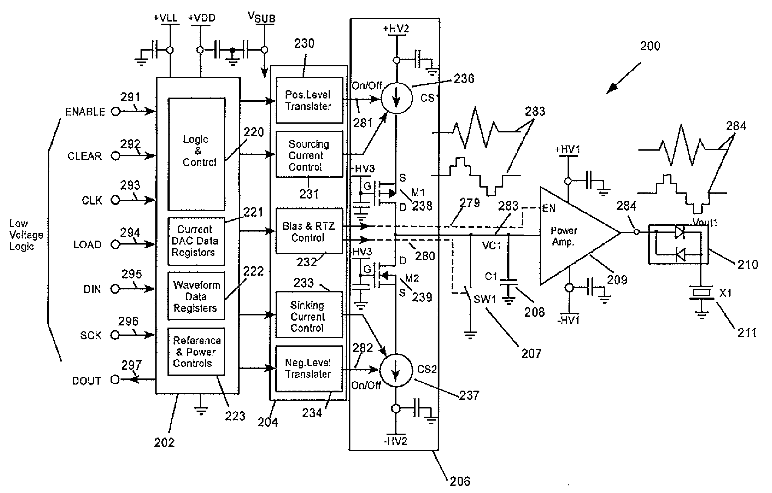 Patent Us7977820 Ultrasound Transmit Pulse Generator Google Patents Ultrasonic Schematic Technical Term Know Drawing