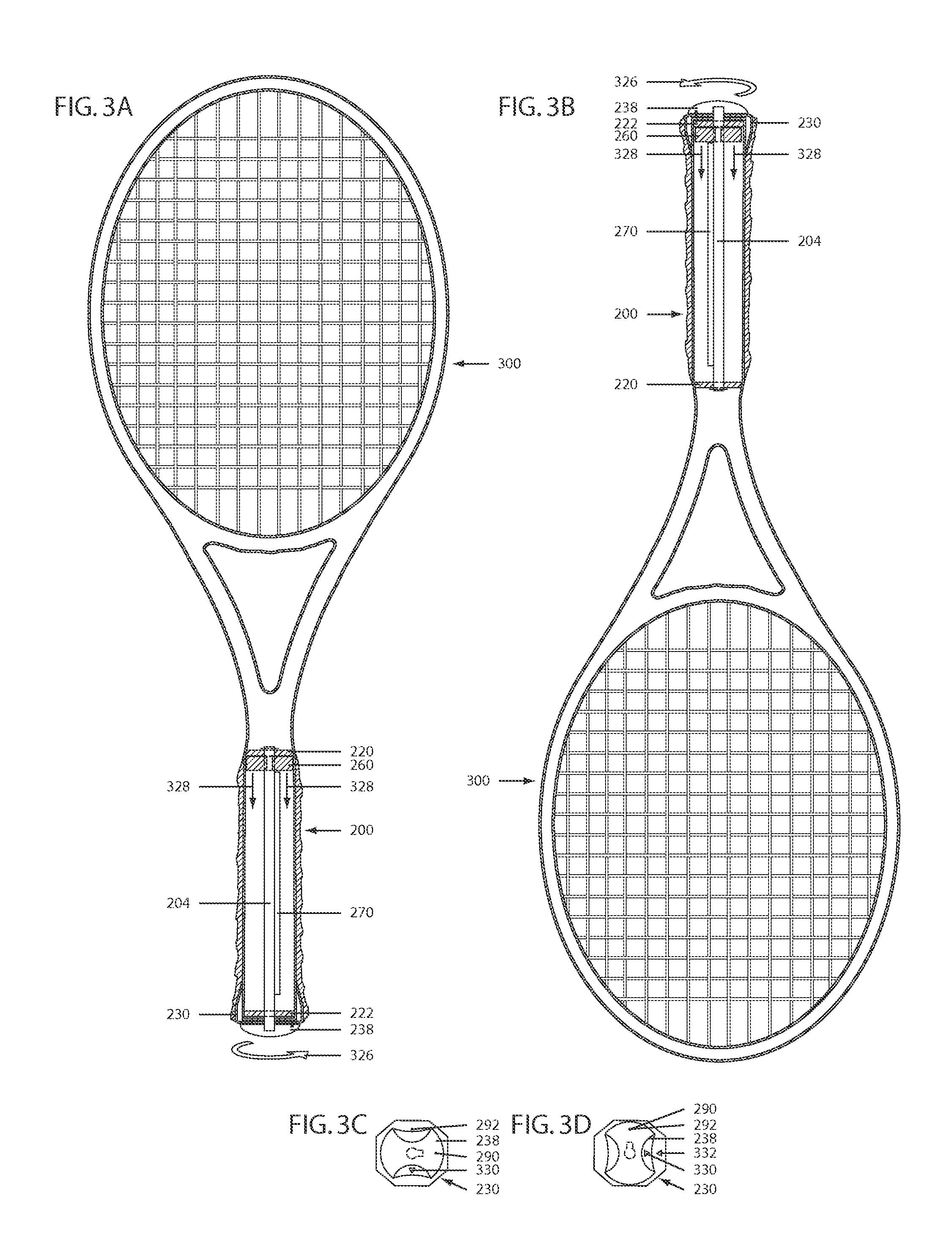 Tennis racket diagram