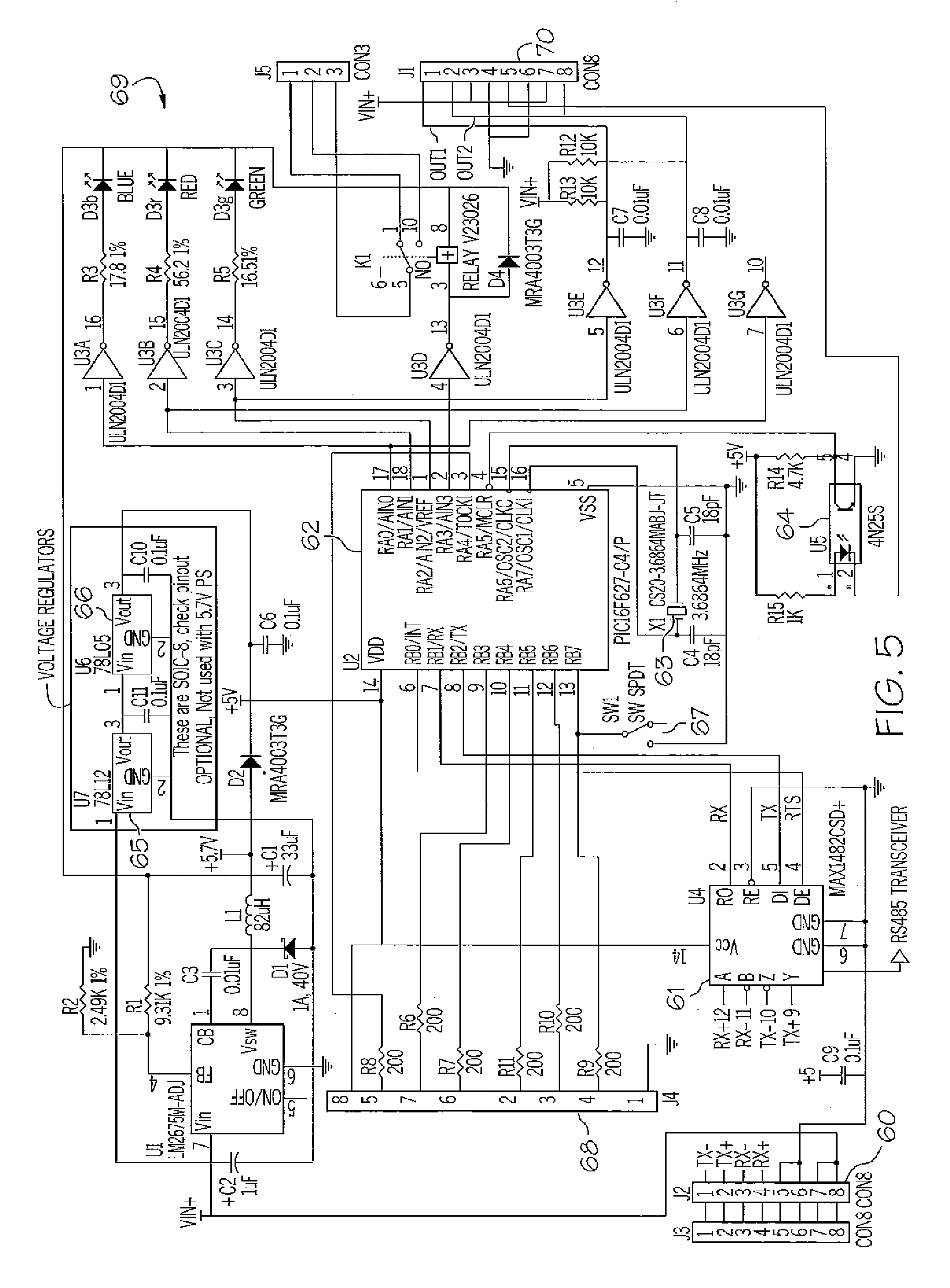 Patent US Emergency Call Panel For Hospital Communication - Wiring diagram nurse call system