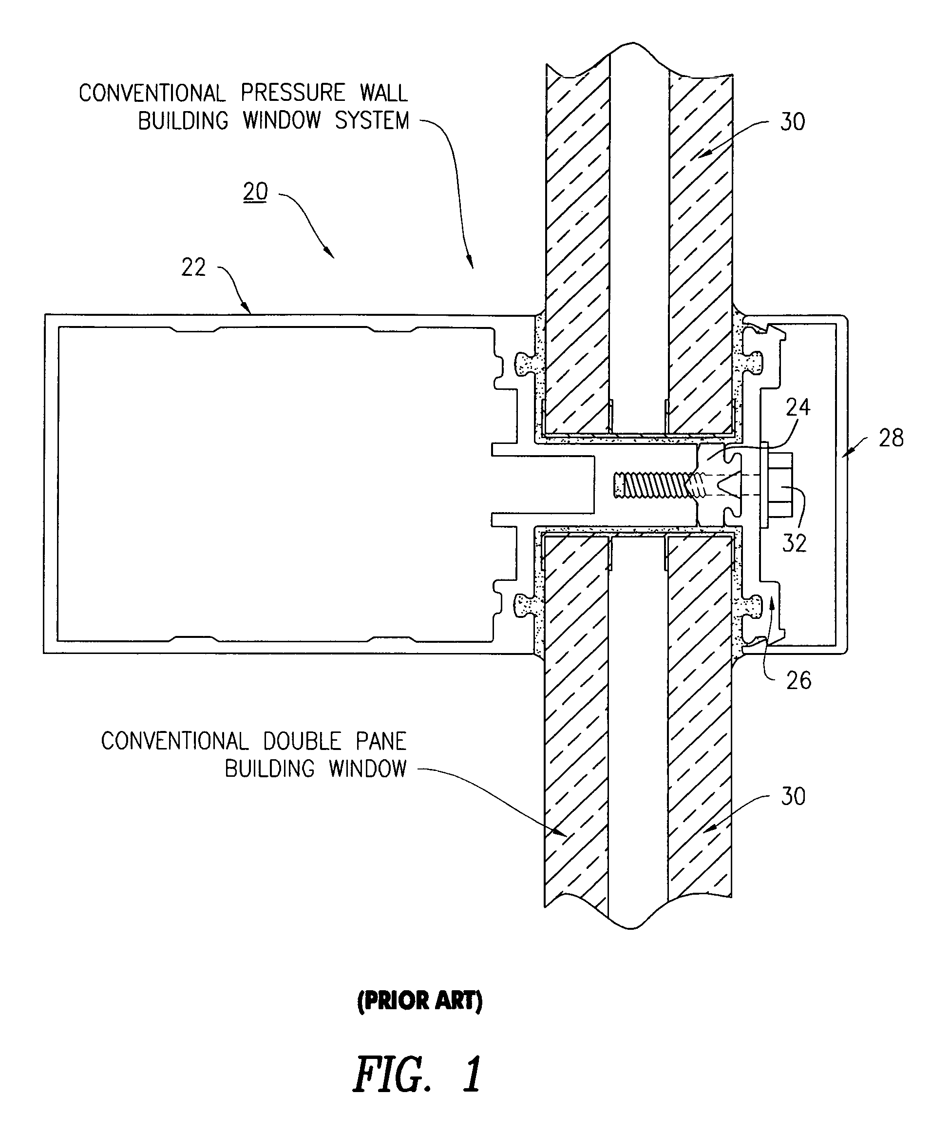 Patent Drawing  sc 1 st  Google & Patent US8011146 - Blast-proof window and mullion system - Google ... pezcame.com