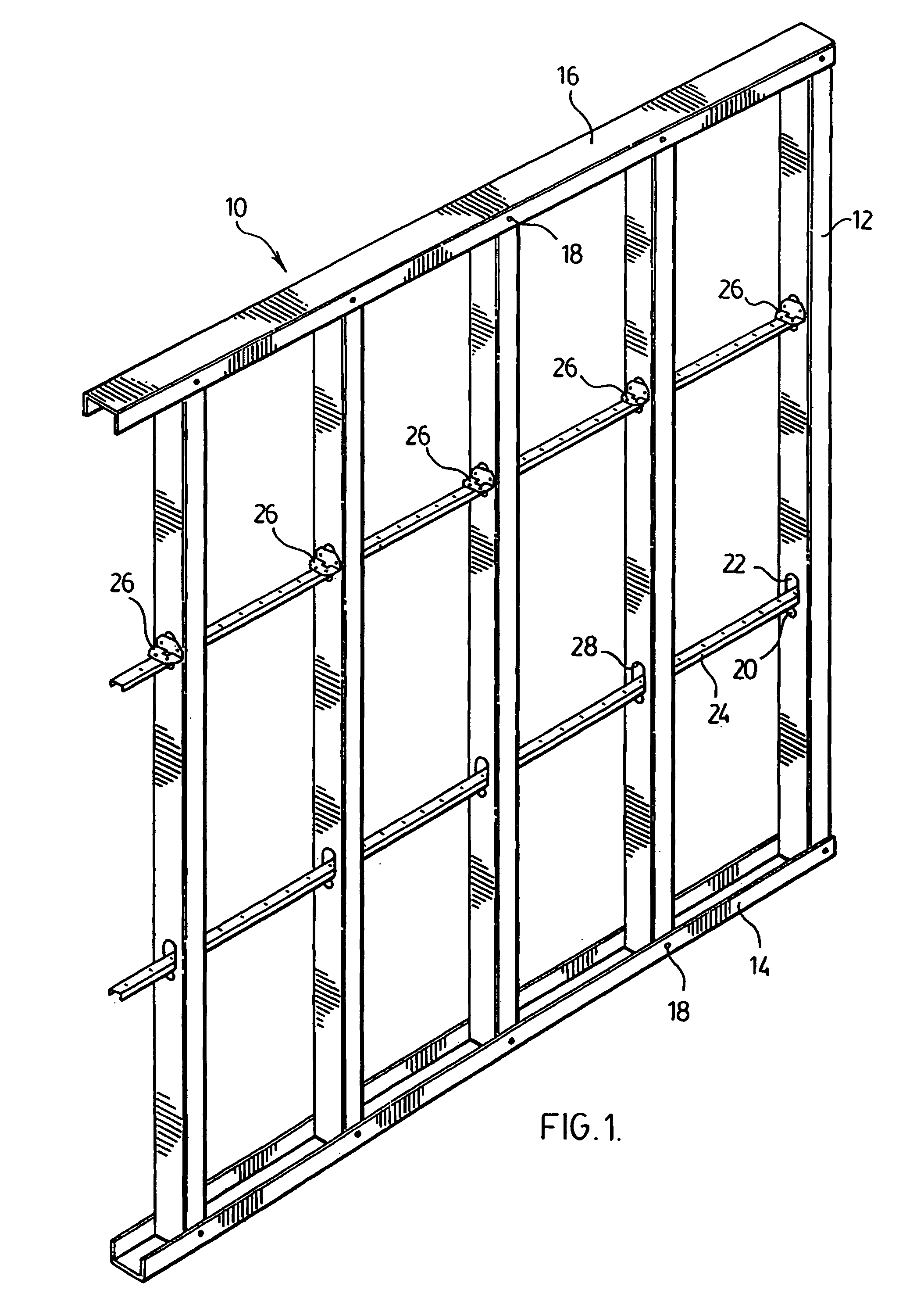 Metal Wall Studs patent us8011160 - bracket and bridging member for metal stud wall
