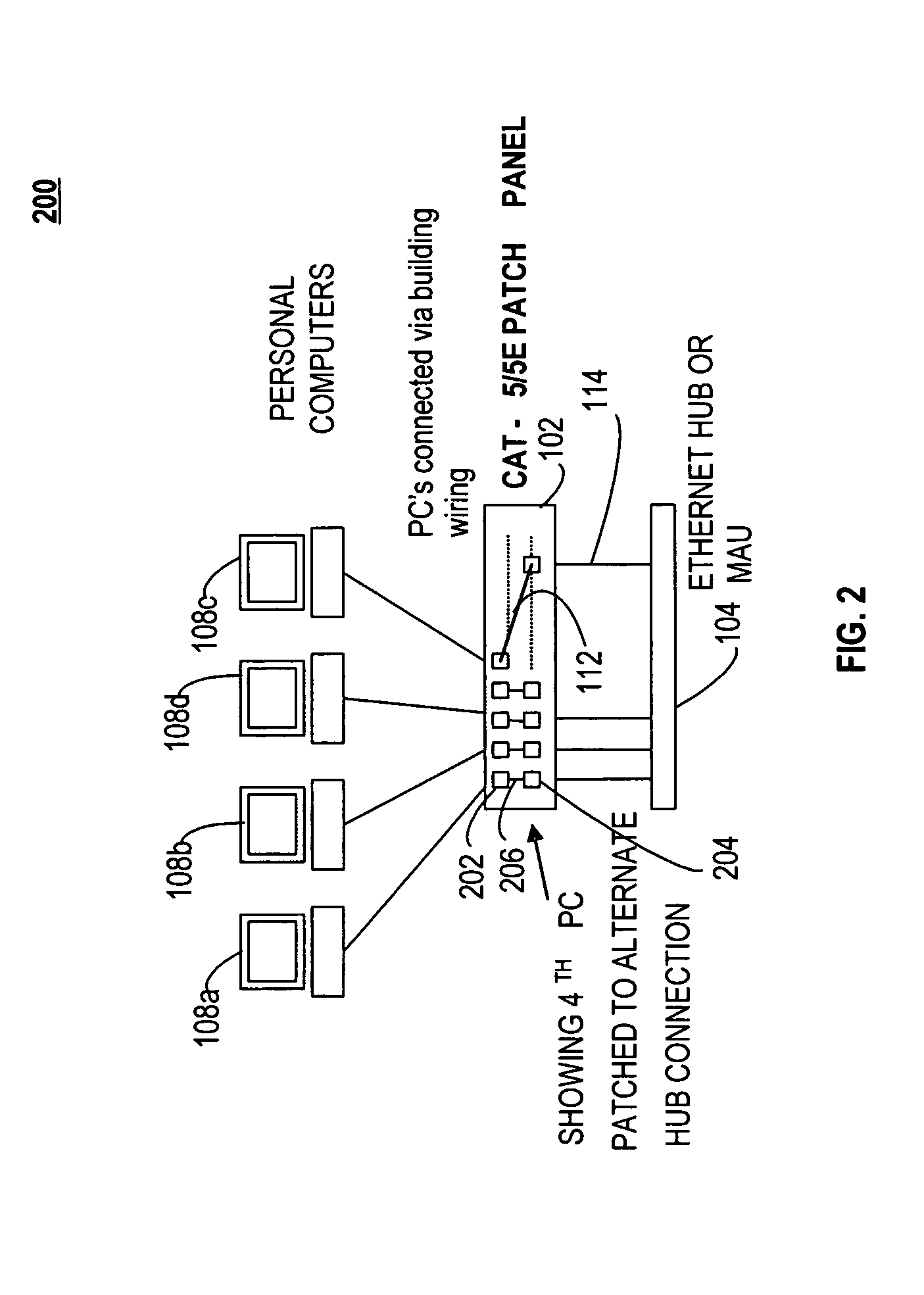 patent us8014518 - patch panel apparatus and system including patch cord path tracing