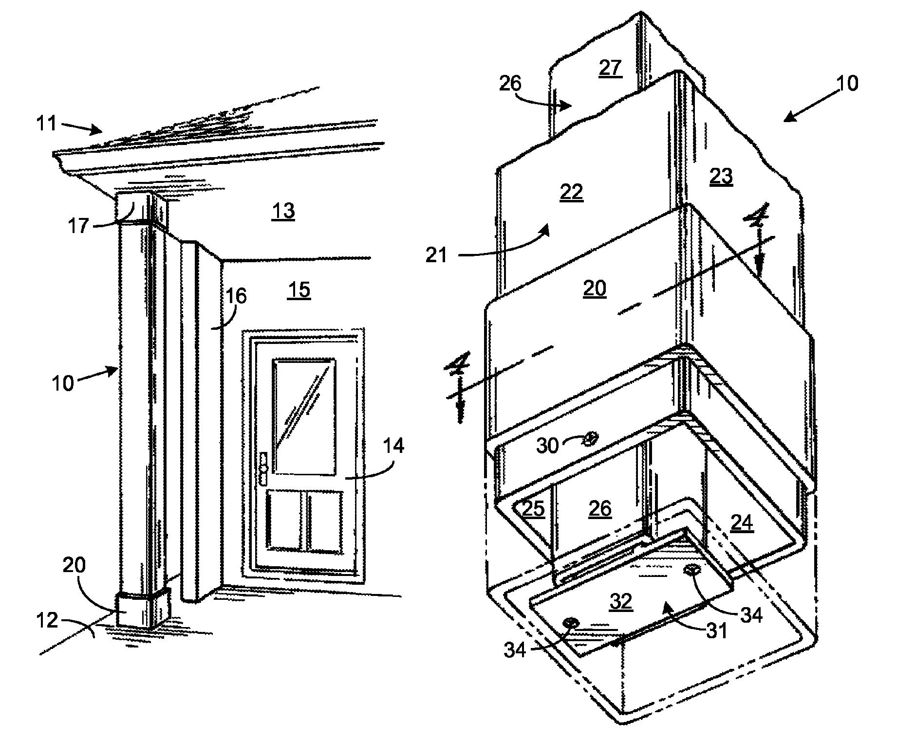 patent us8015775 light weight load bearing architectural column google patenten. Black Bedroom Furniture Sets. Home Design Ideas
